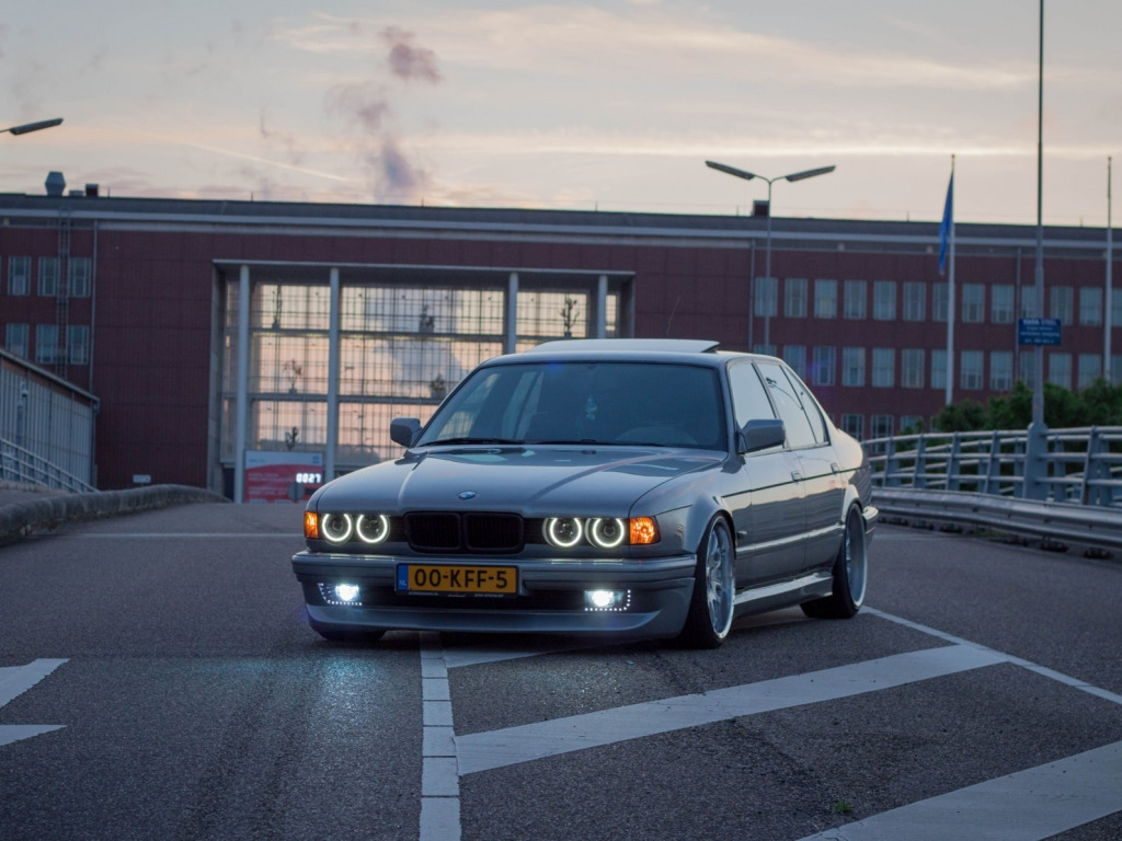 Download Wallpaper Bmw Tuning Classic Bmw Lights Drives