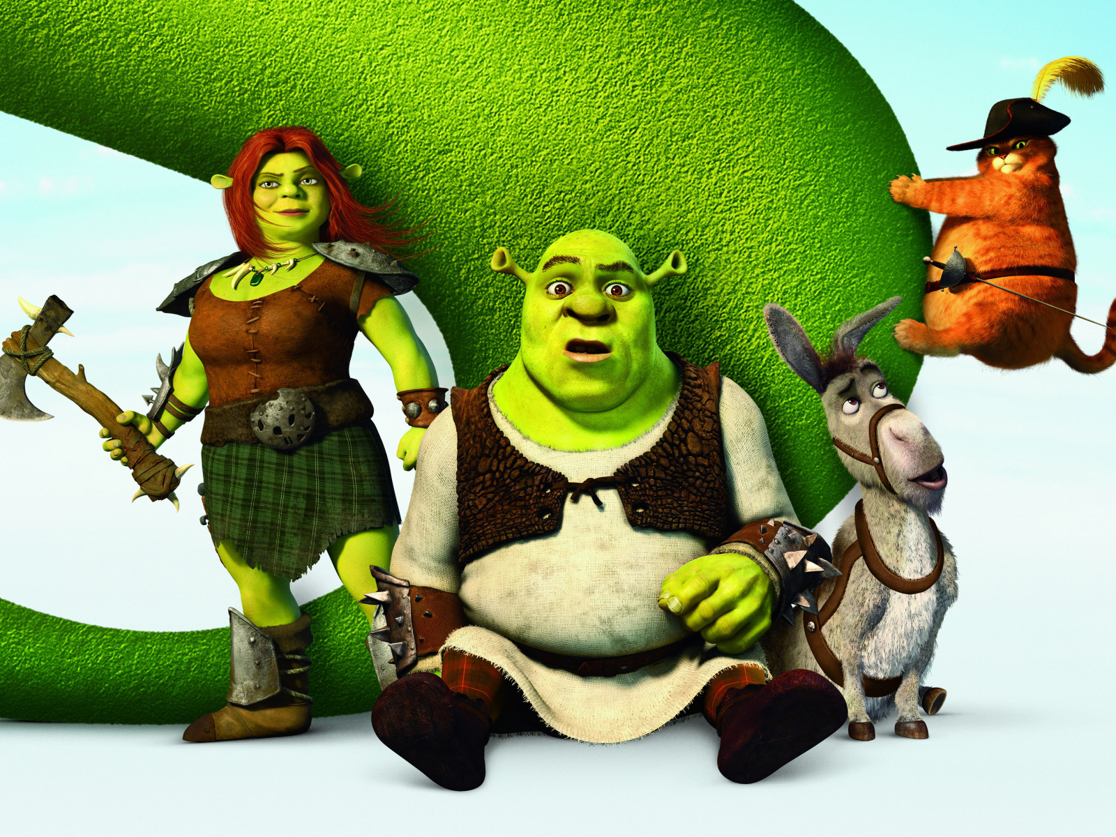 Download Wallpaper Shrek Cartoon Hat Poster Ogre Sword