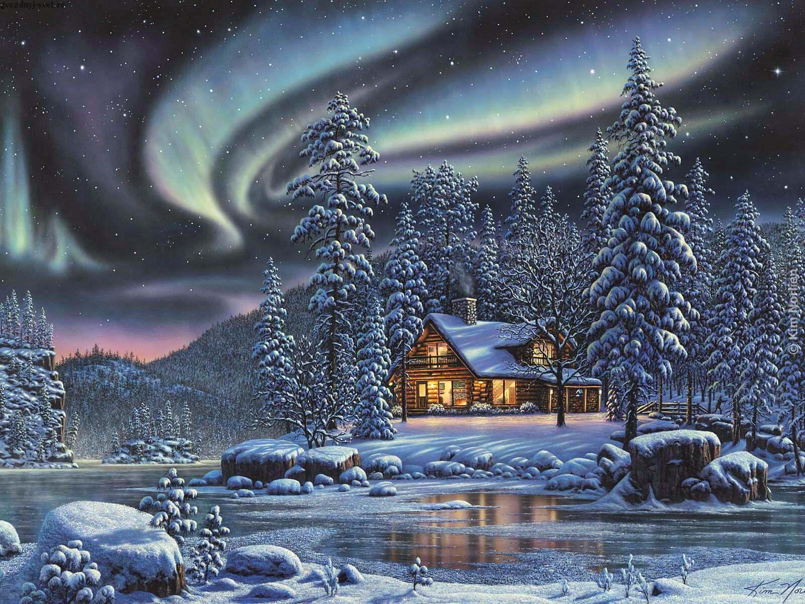 Годиком, открытки с снегом