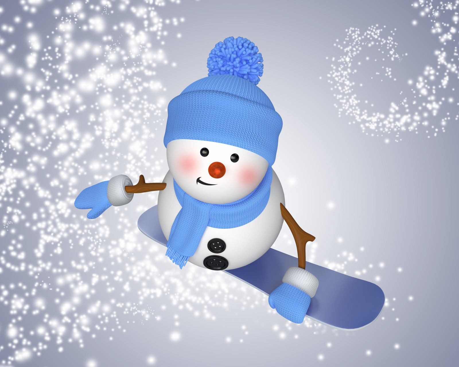 Снеговик на сноуборде  № 3290111 без смс