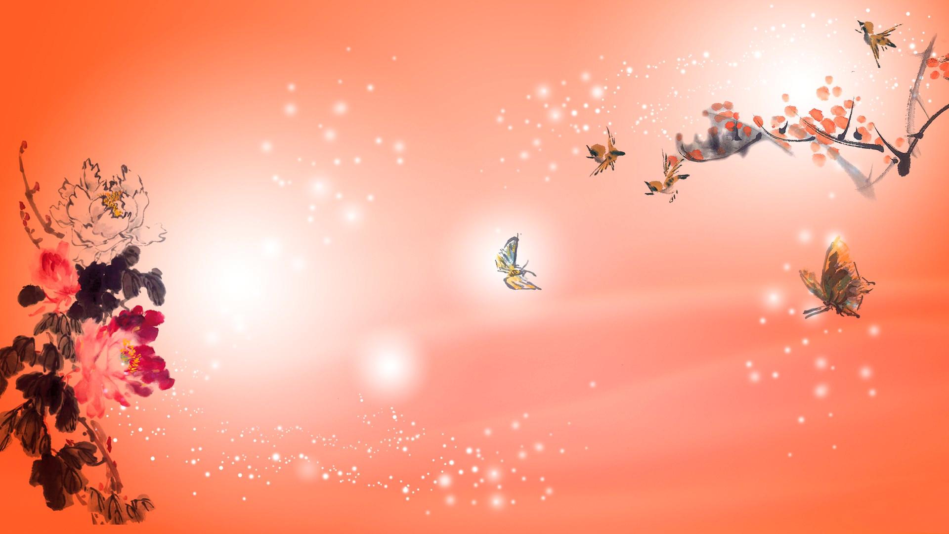 бабочки из лепестков  № 2303880 бесплатно