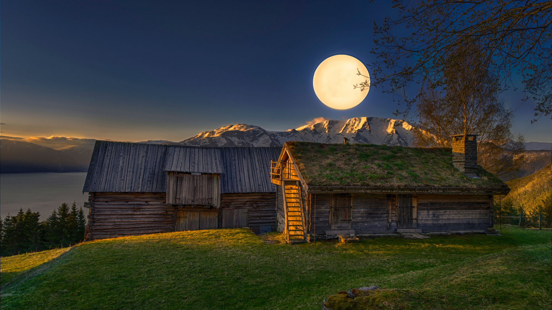 горы сарай осень mountains the barn autumn  № 387074  скачать