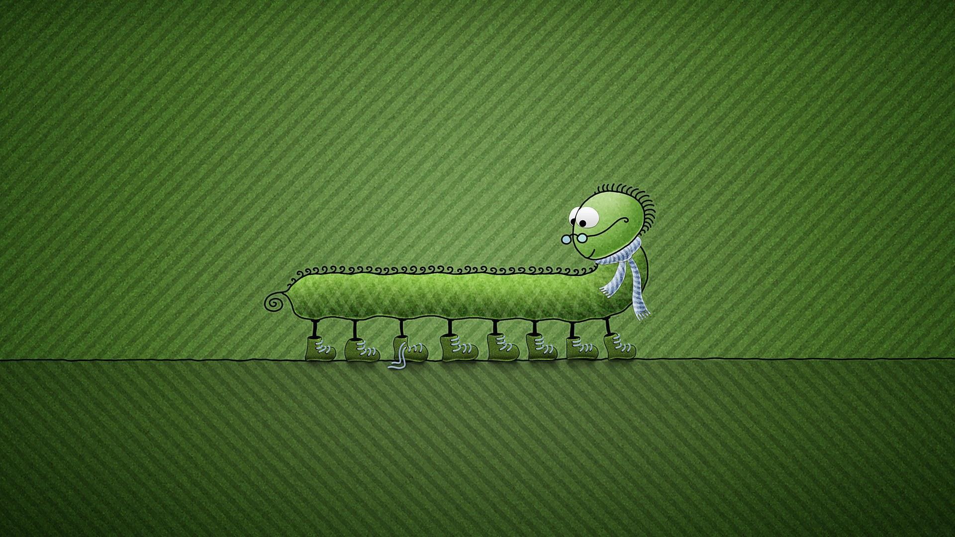 Гусеница в очках  № 2323557 без смс