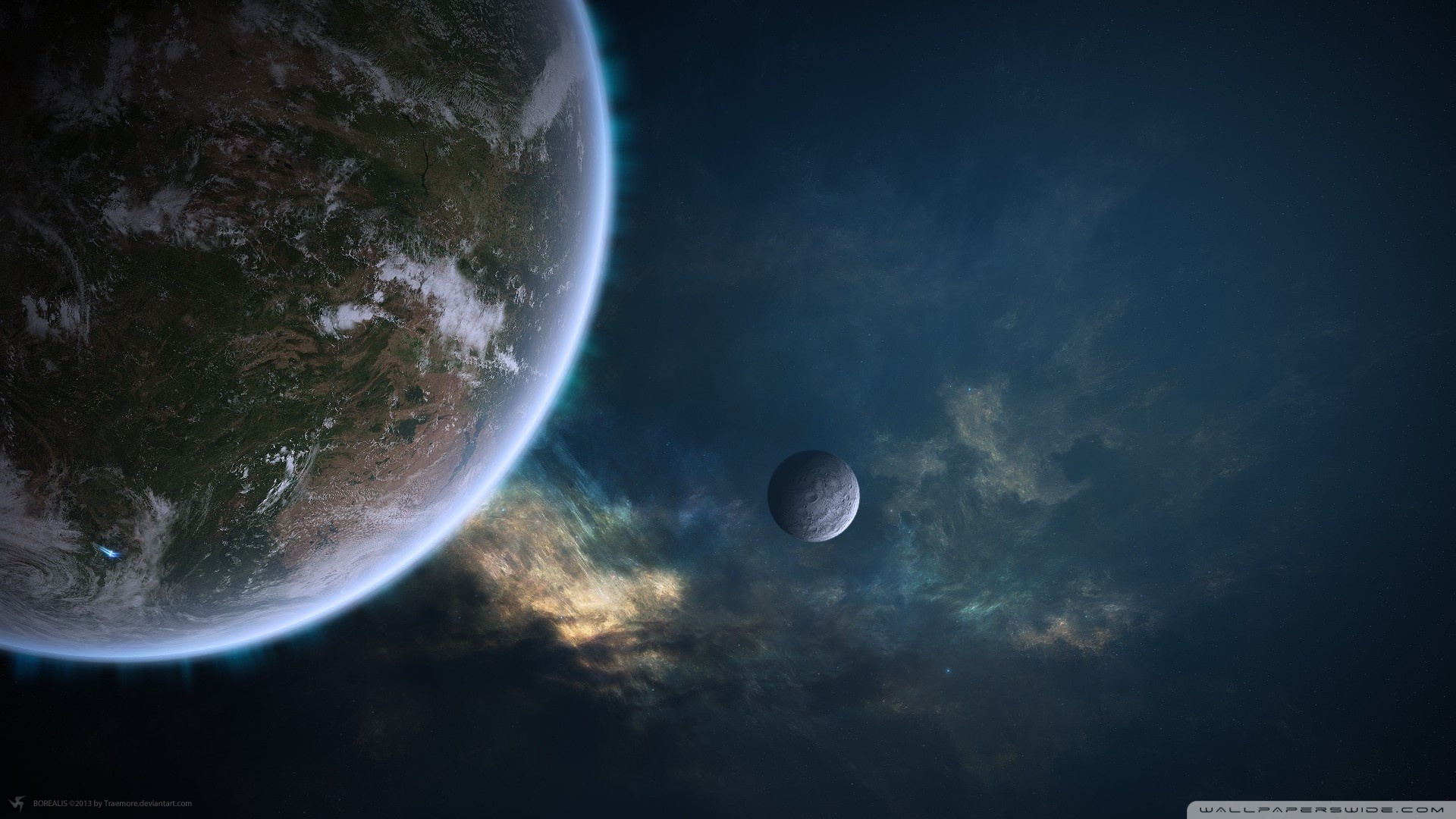 three planets besides earth - HD 1680×1050