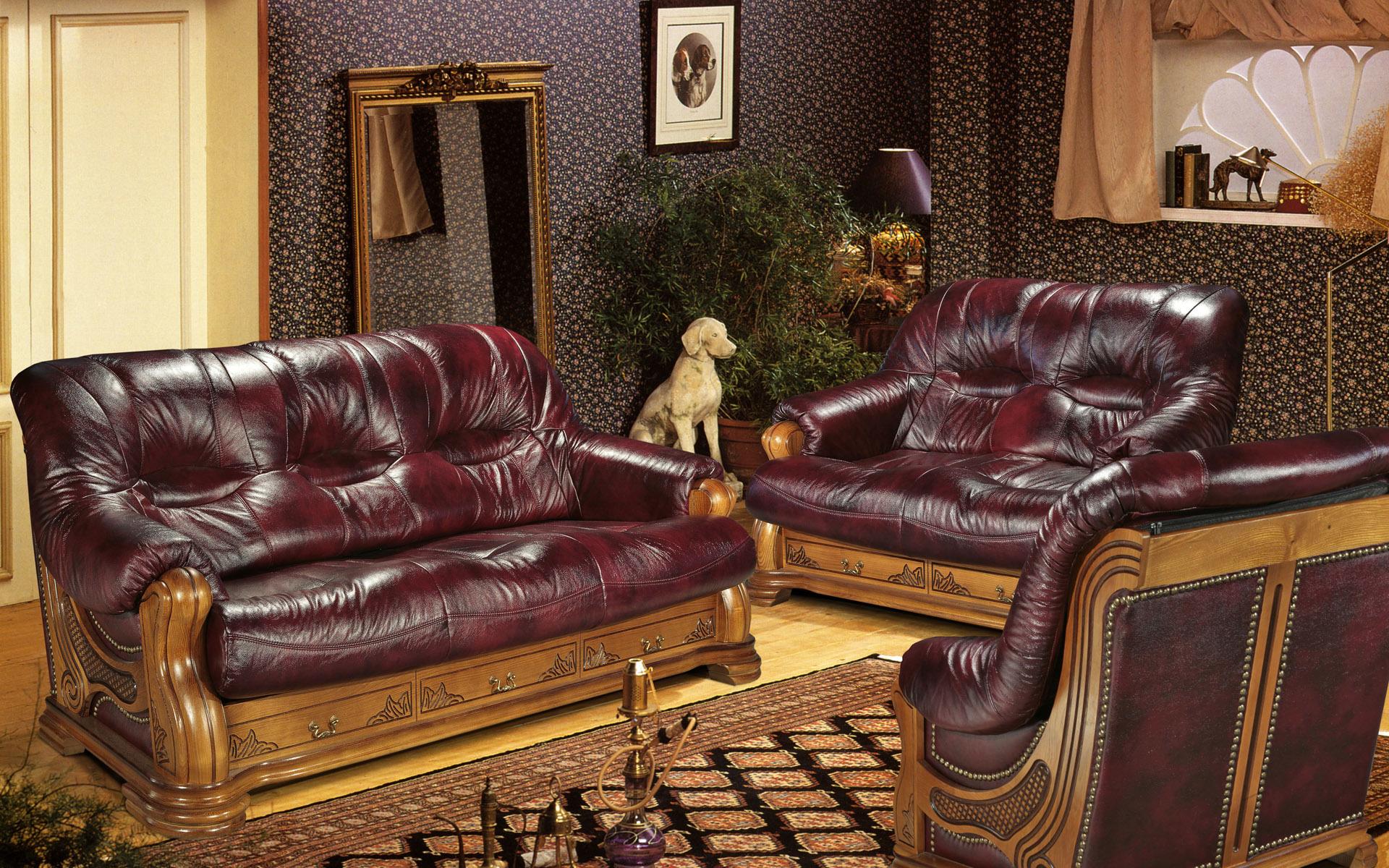 кожаные диваны  № 1314032  скачать
