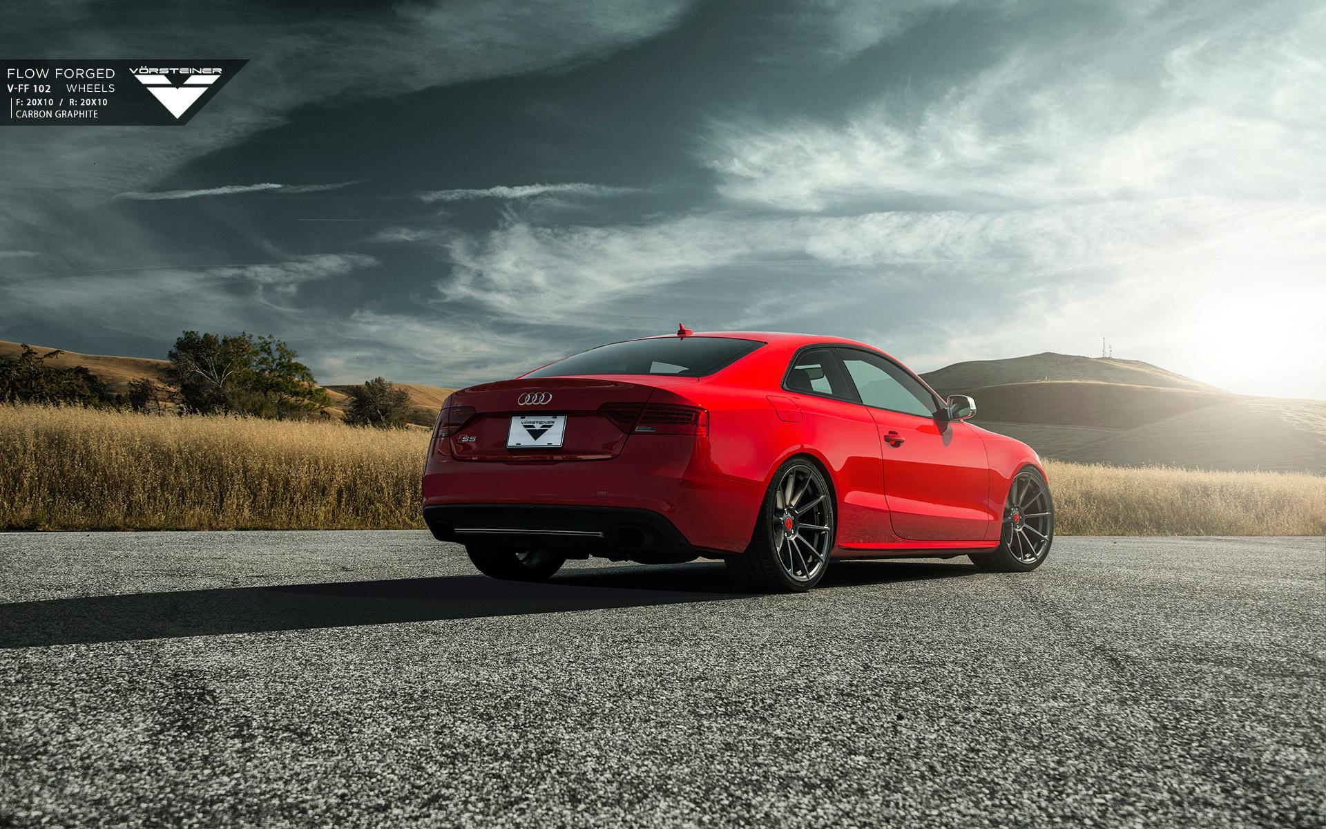 Audi A5 красная купе  № 3761393 загрузить
