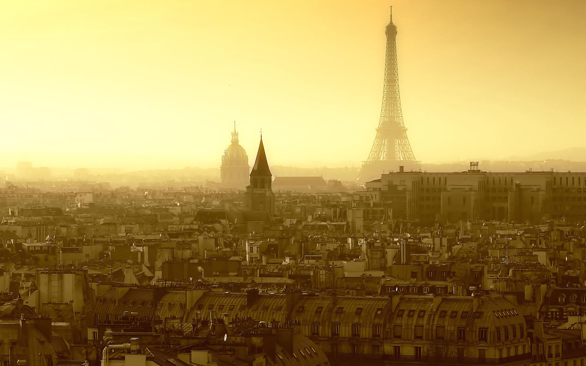 Обои города париж для рабочего стола