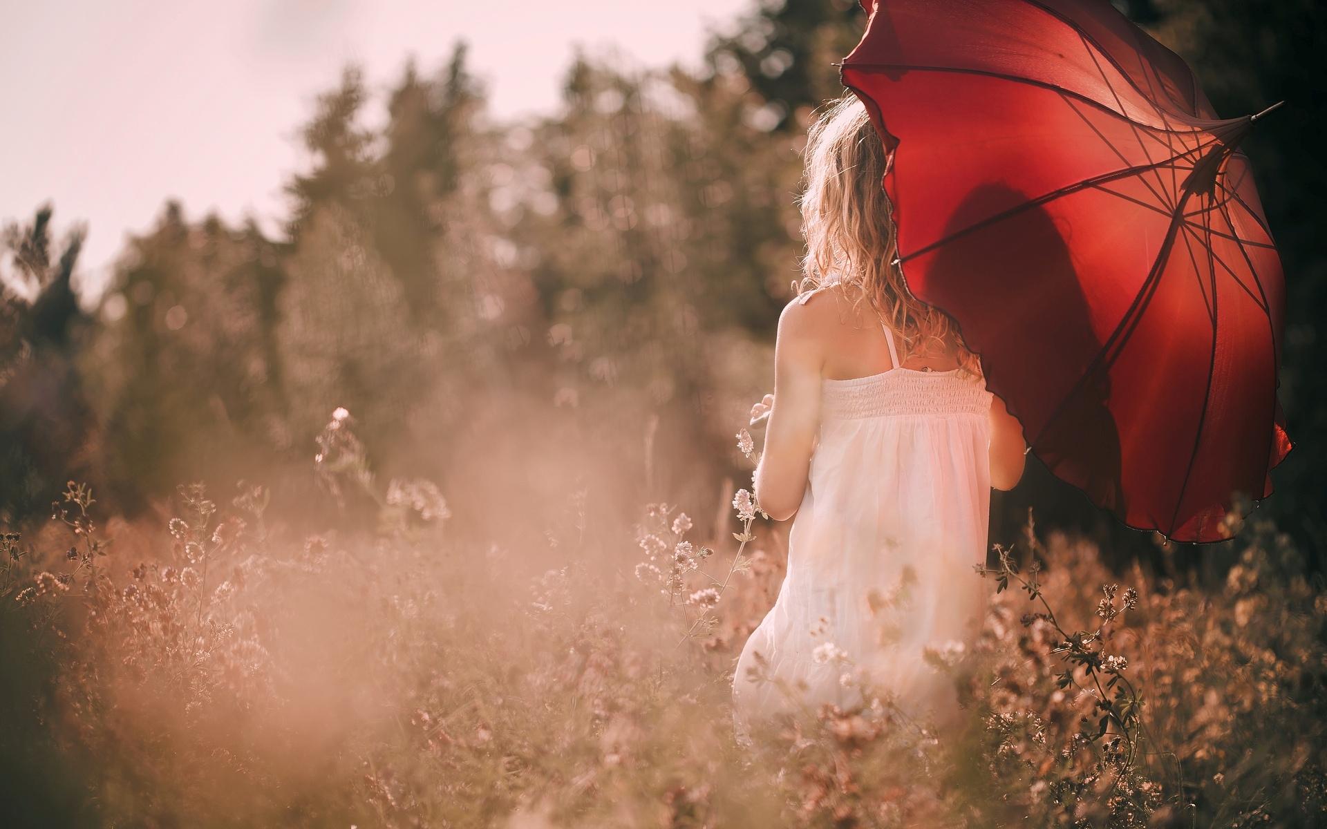 девушка зонт дождь природа  № 3582351 бесплатно
