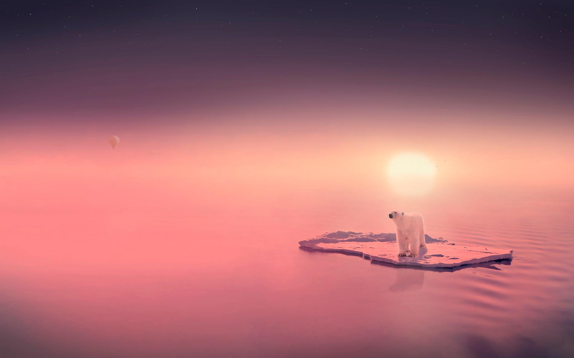 солнце льдины фокус  № 3229508  скачать