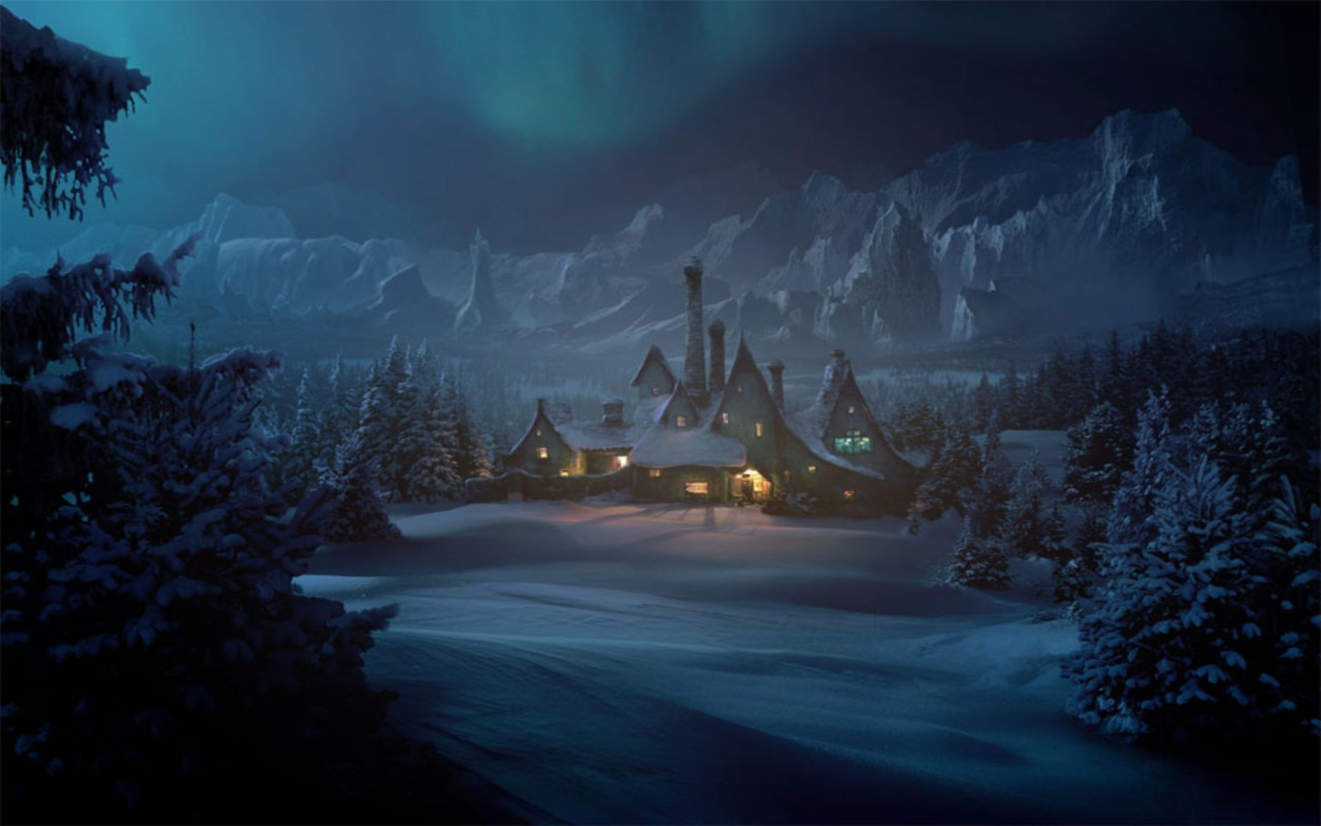 Скачать Обои Фэнтези Зима