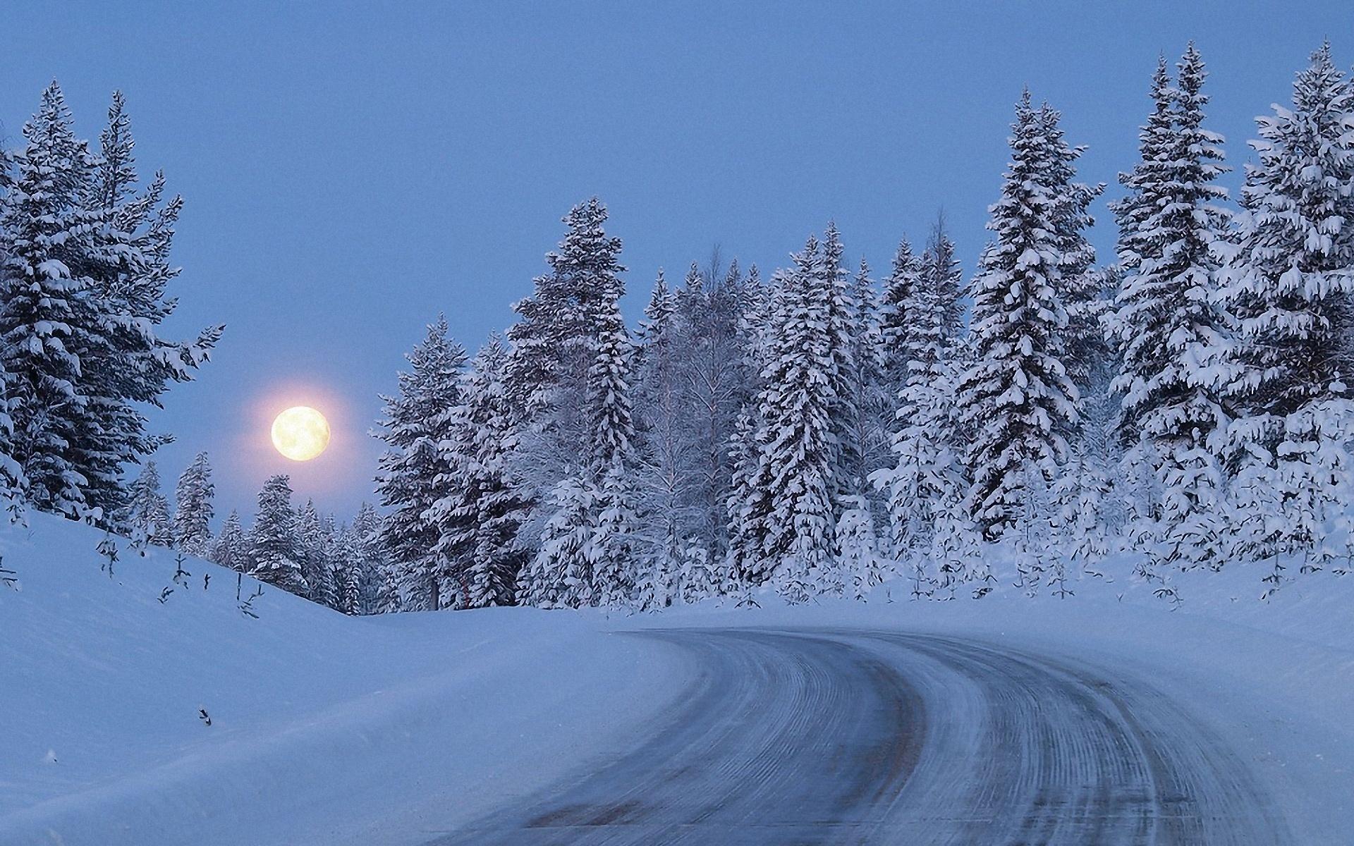 дорога зима вечер снег  № 3902612 загрузить