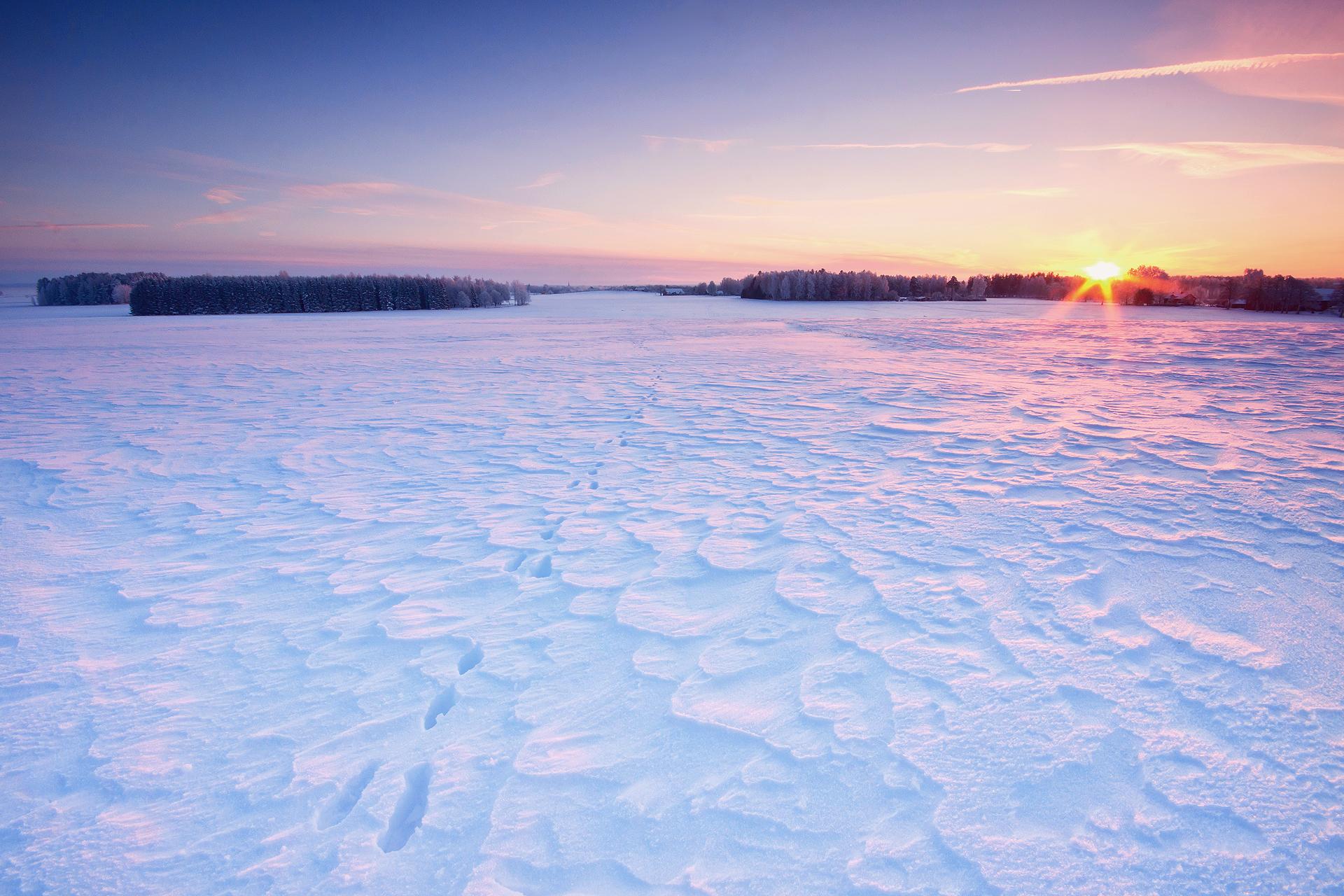 закат над снежной степью  № 831900 без смс