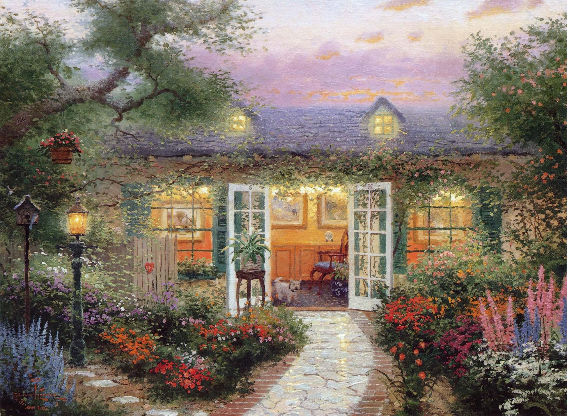 summer cottage wallpaper - photo #10