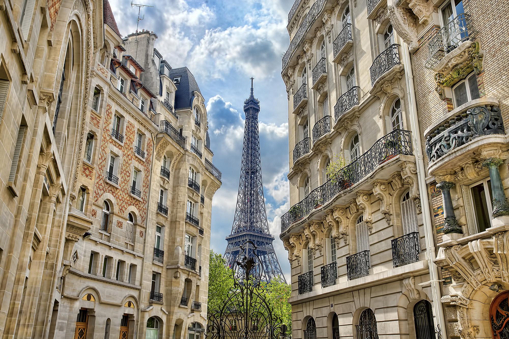 природа страны архитектура Марсово поле Париж Франция  № 824096 без смс