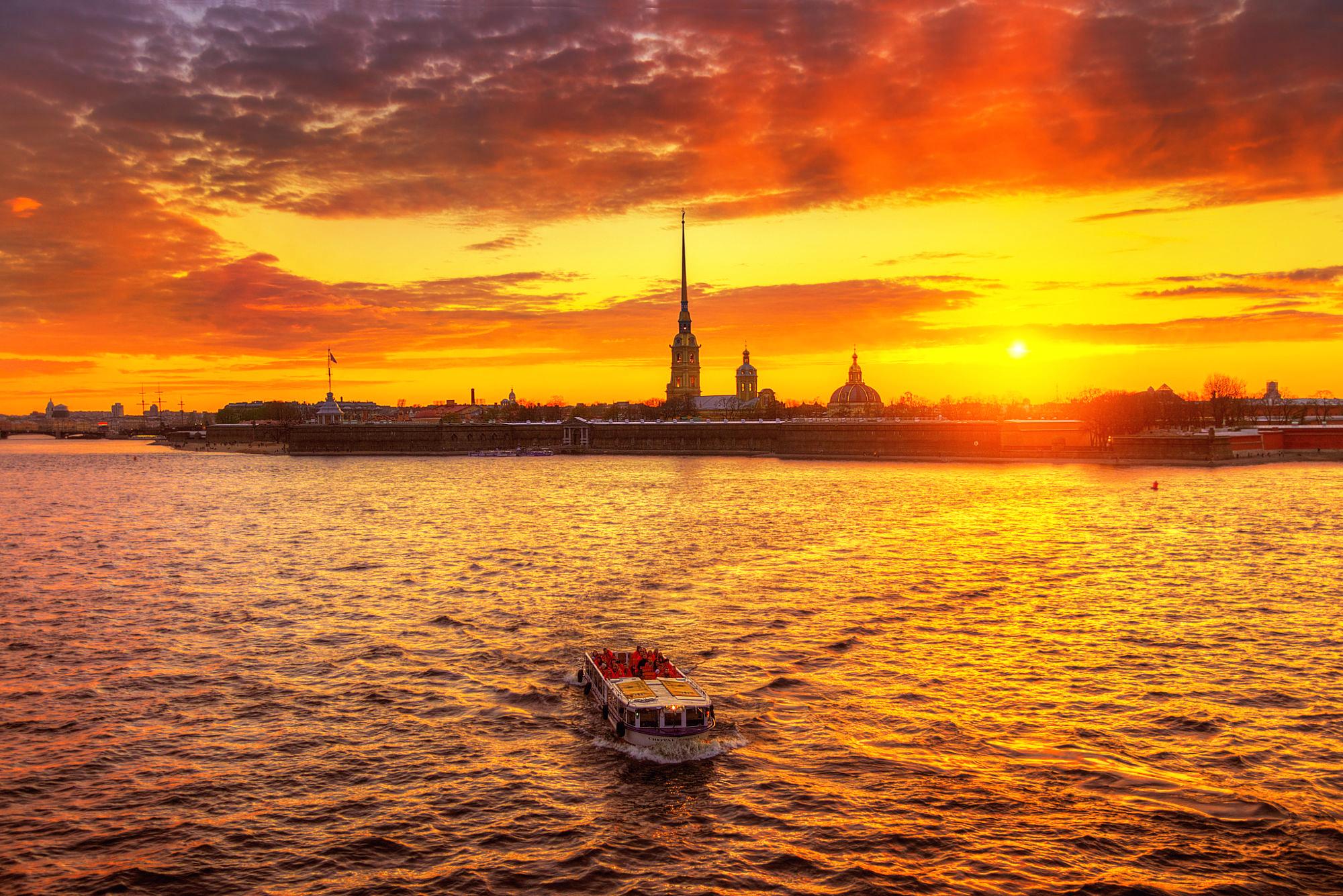 Санкт-Петербург корабль закат  № 3945076  скачать