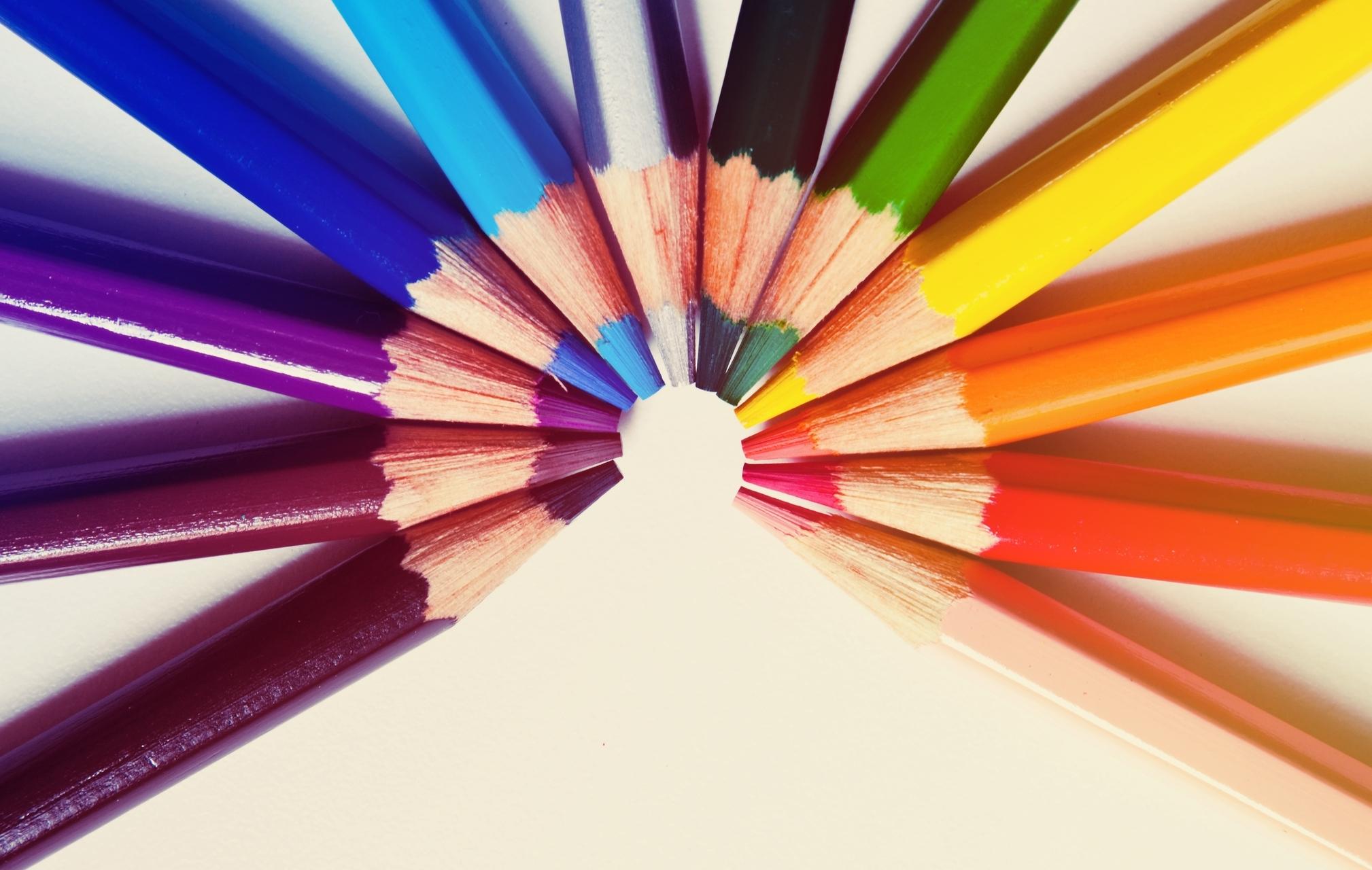 разноцветные карандаши  № 2931995 бесплатно