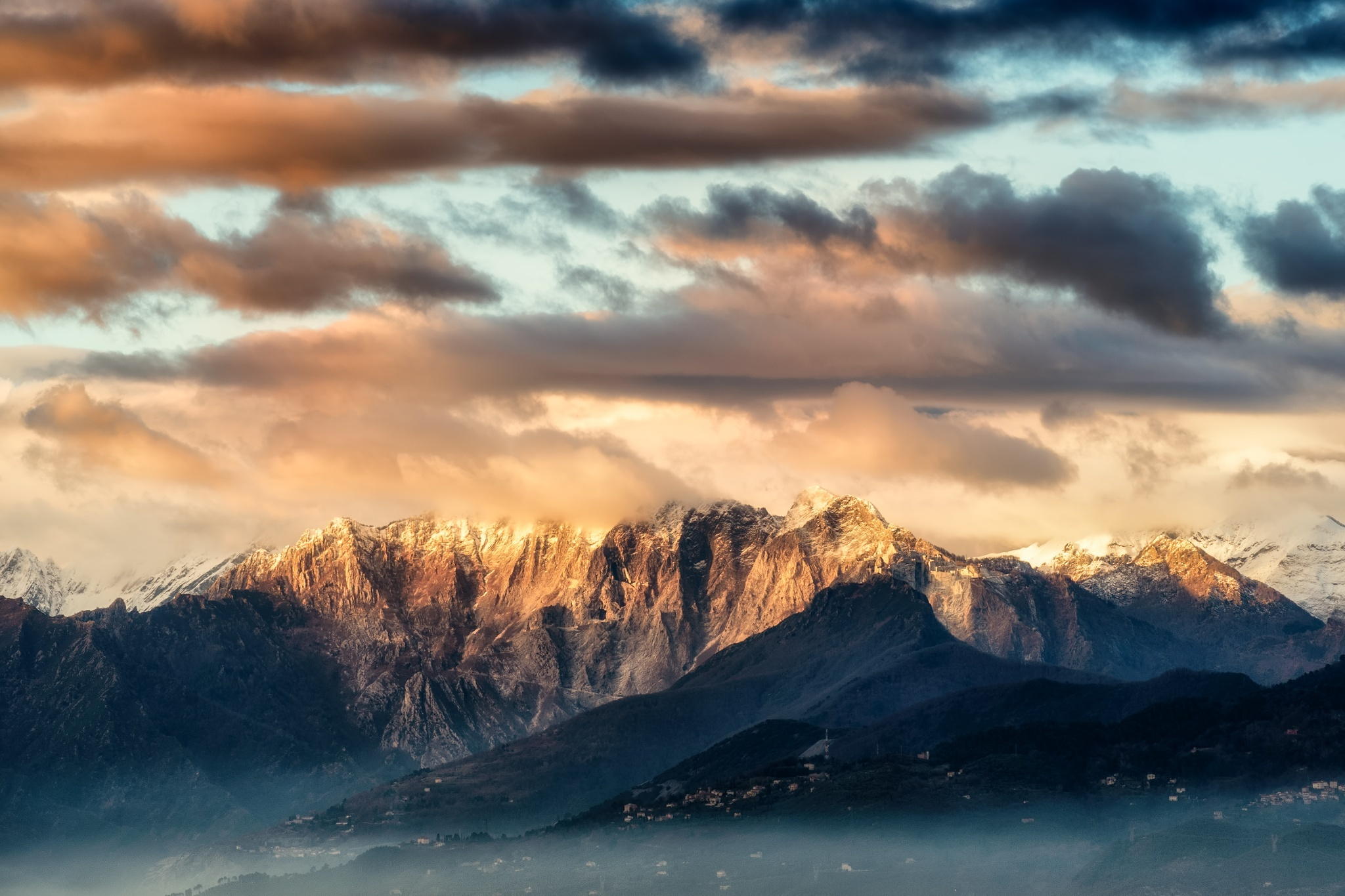 природа горы облака  № 2602229 загрузить