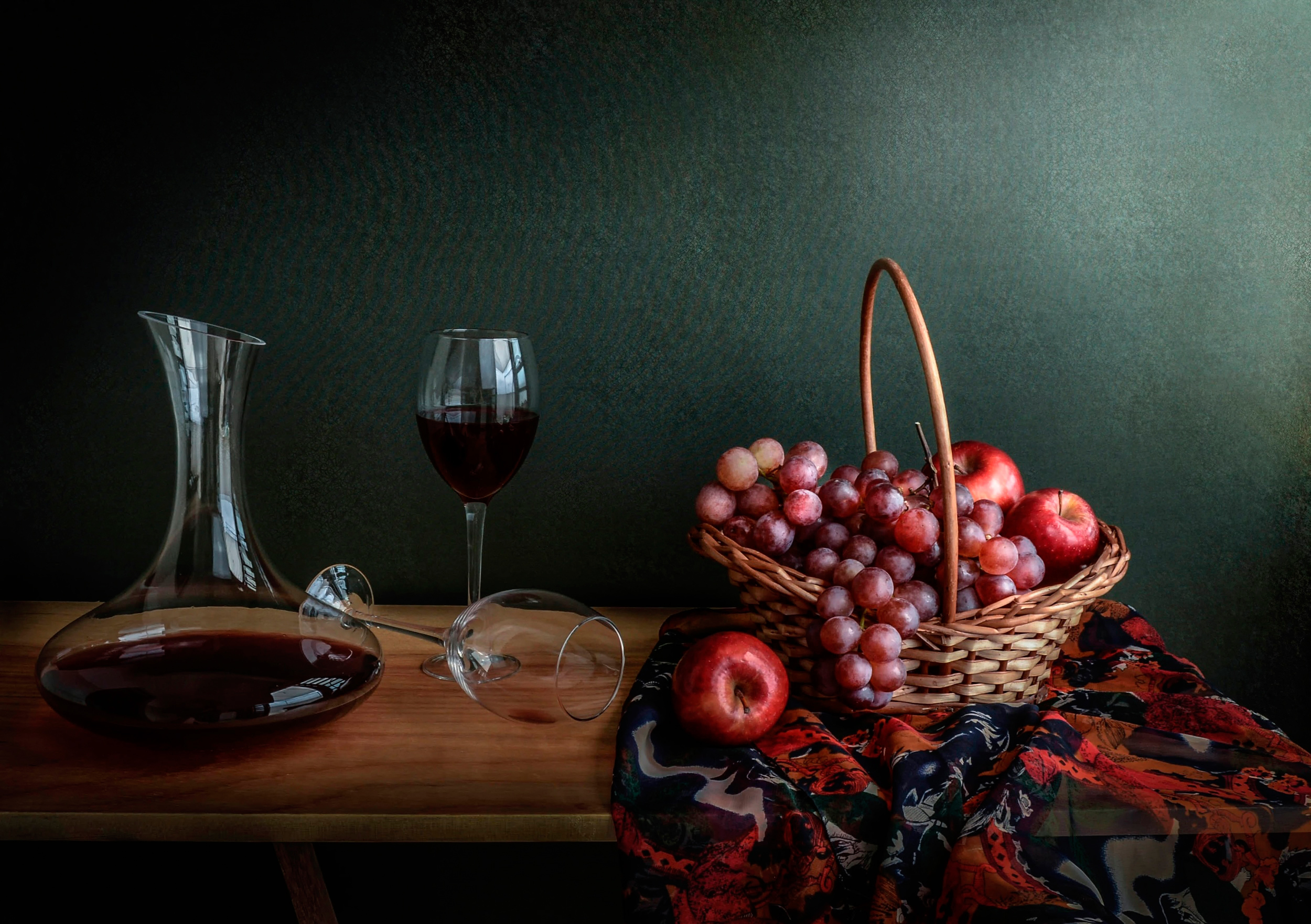 бокал вино корзина сирень  № 3966458 бесплатно