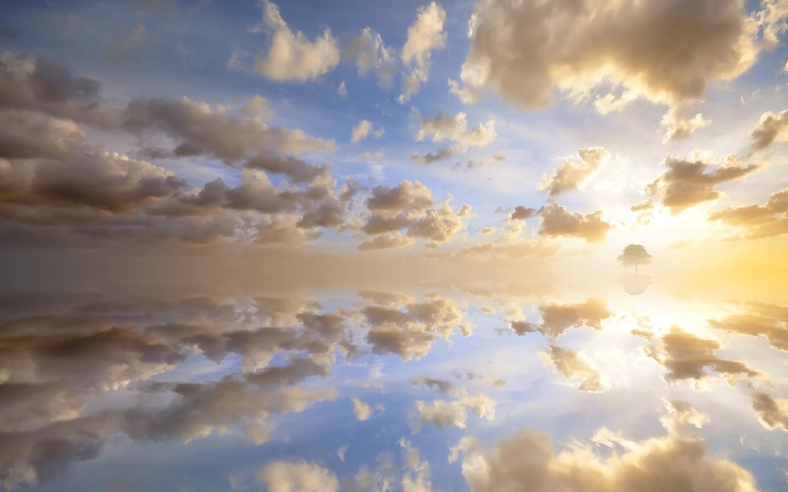 природа небо облака солнце горизонт  № 1275901 загрузить