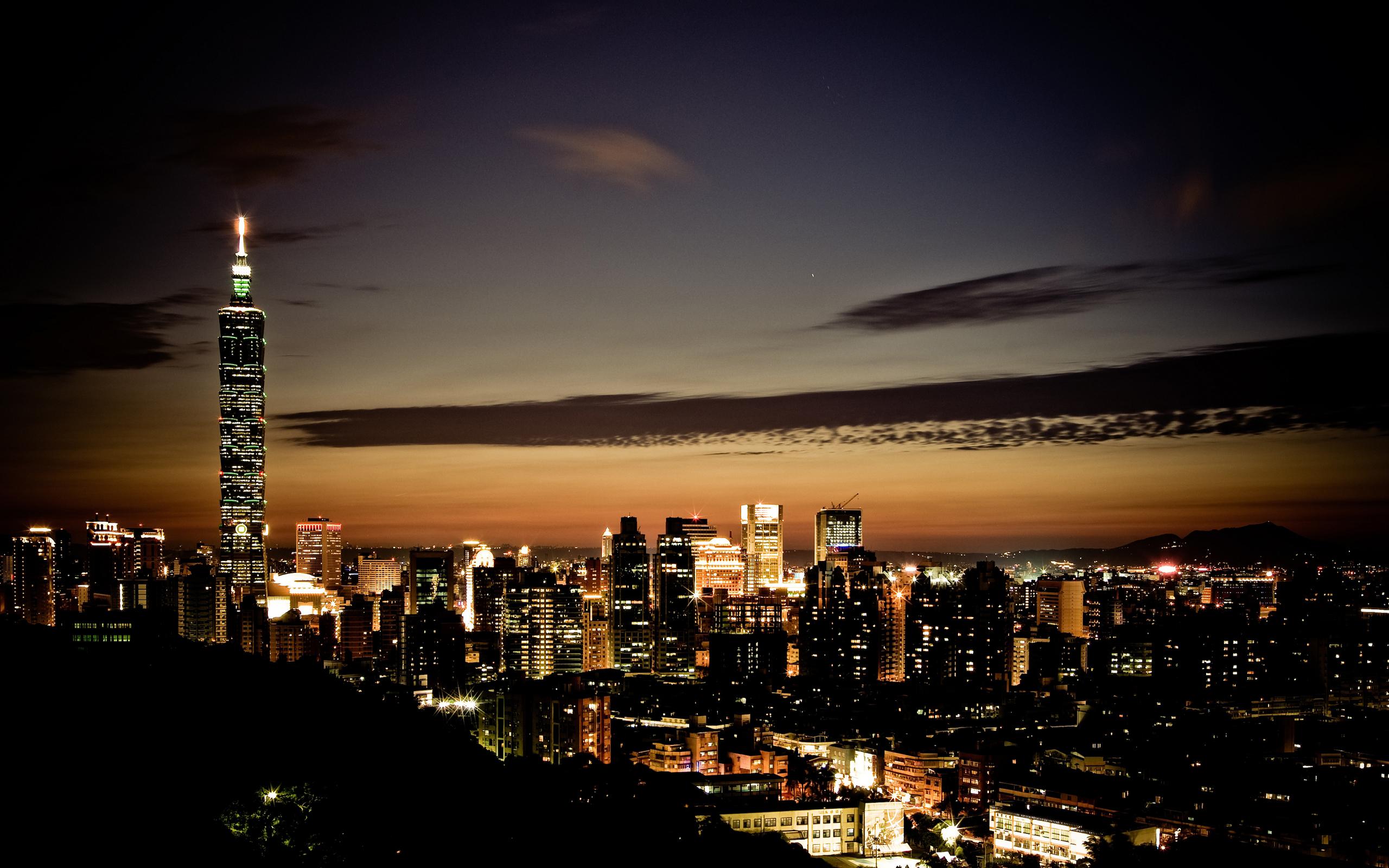 небоскребы ночь город  № 3358972 без смс
