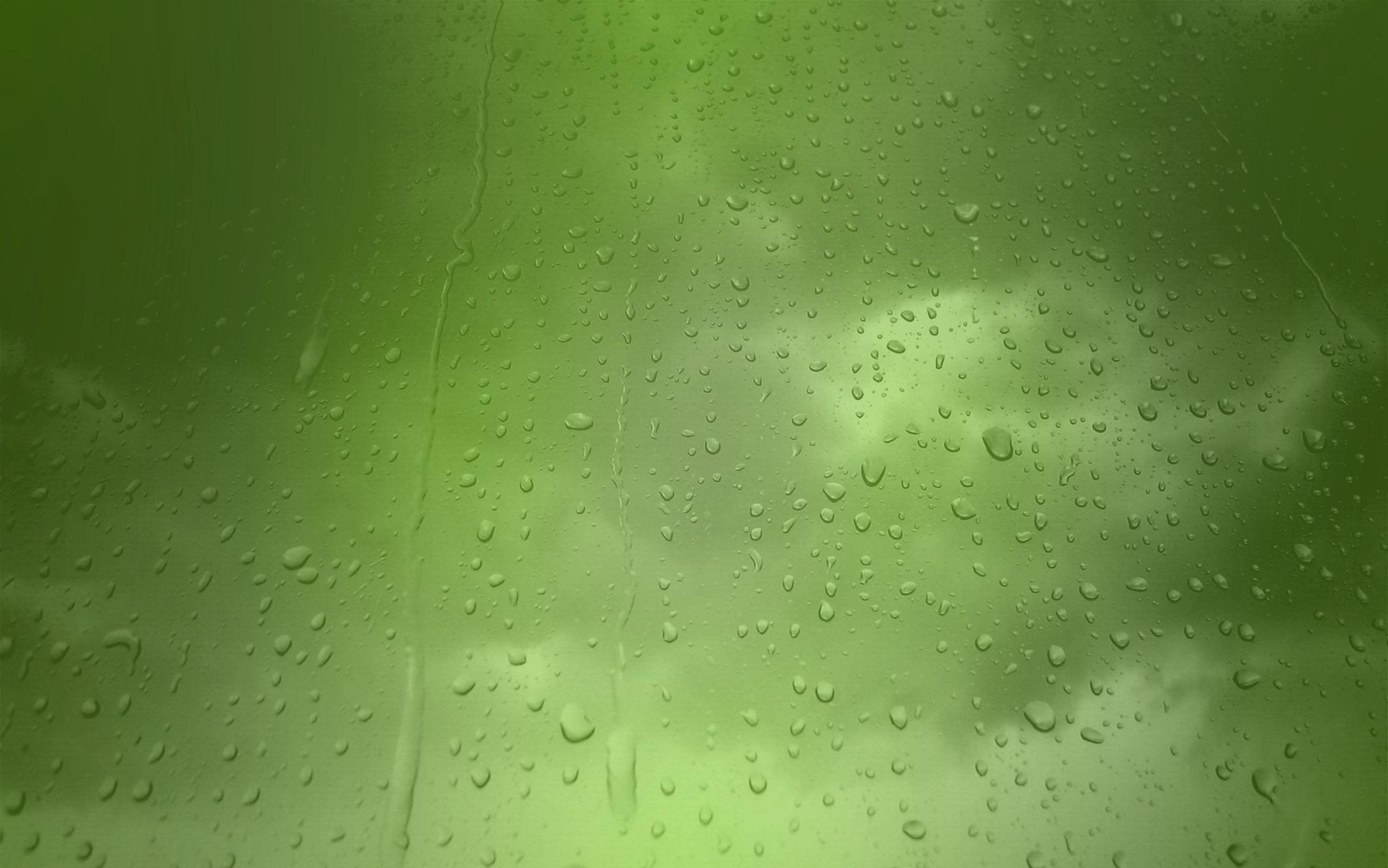 зеленый фон капли свет  № 3258022 бесплатно