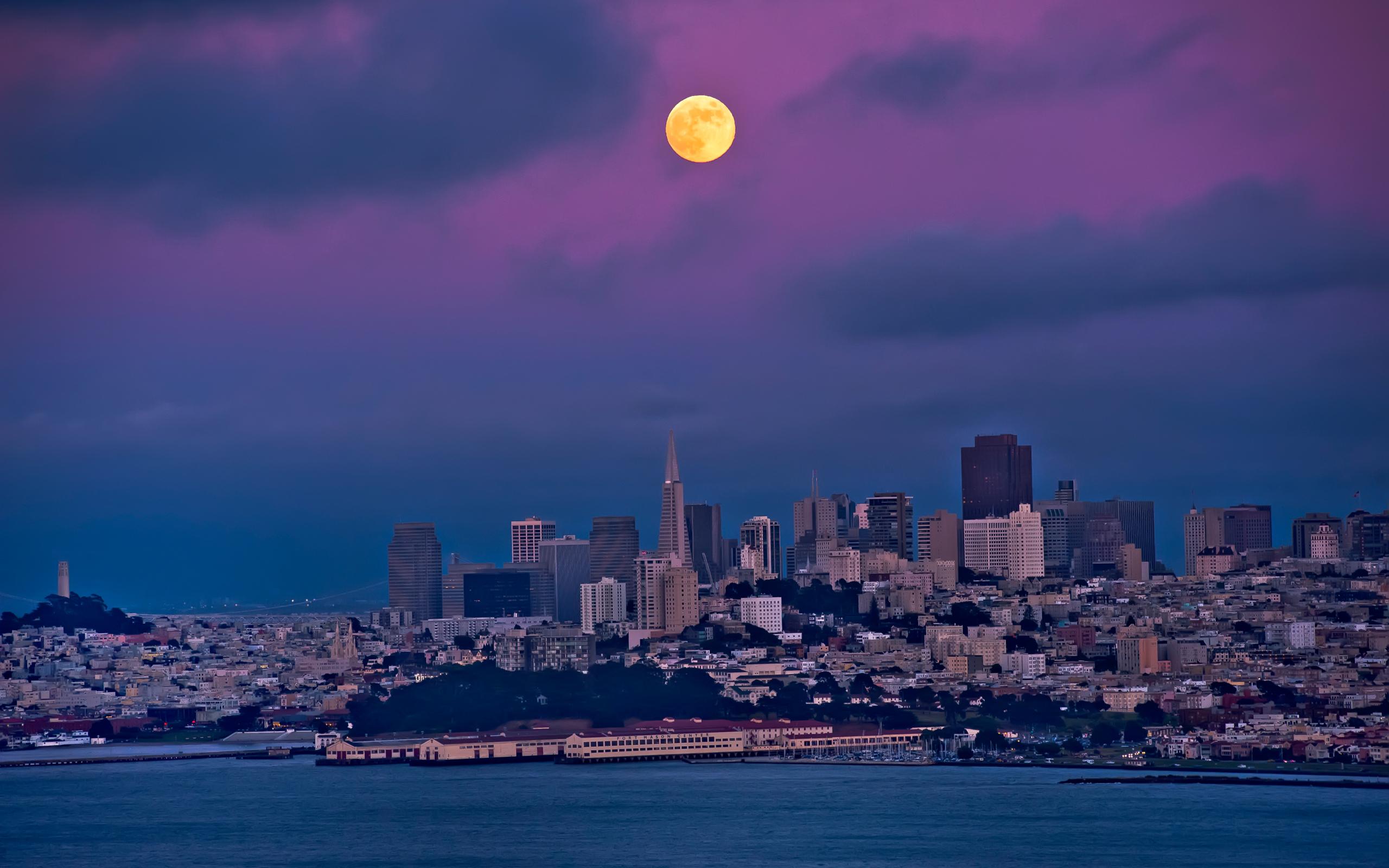 луна над городом  № 1456769 без смс