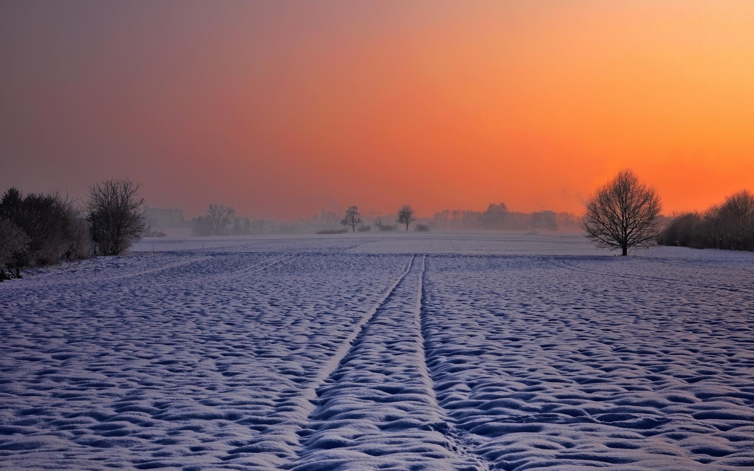 закат над снежной степью  № 831856 загрузить