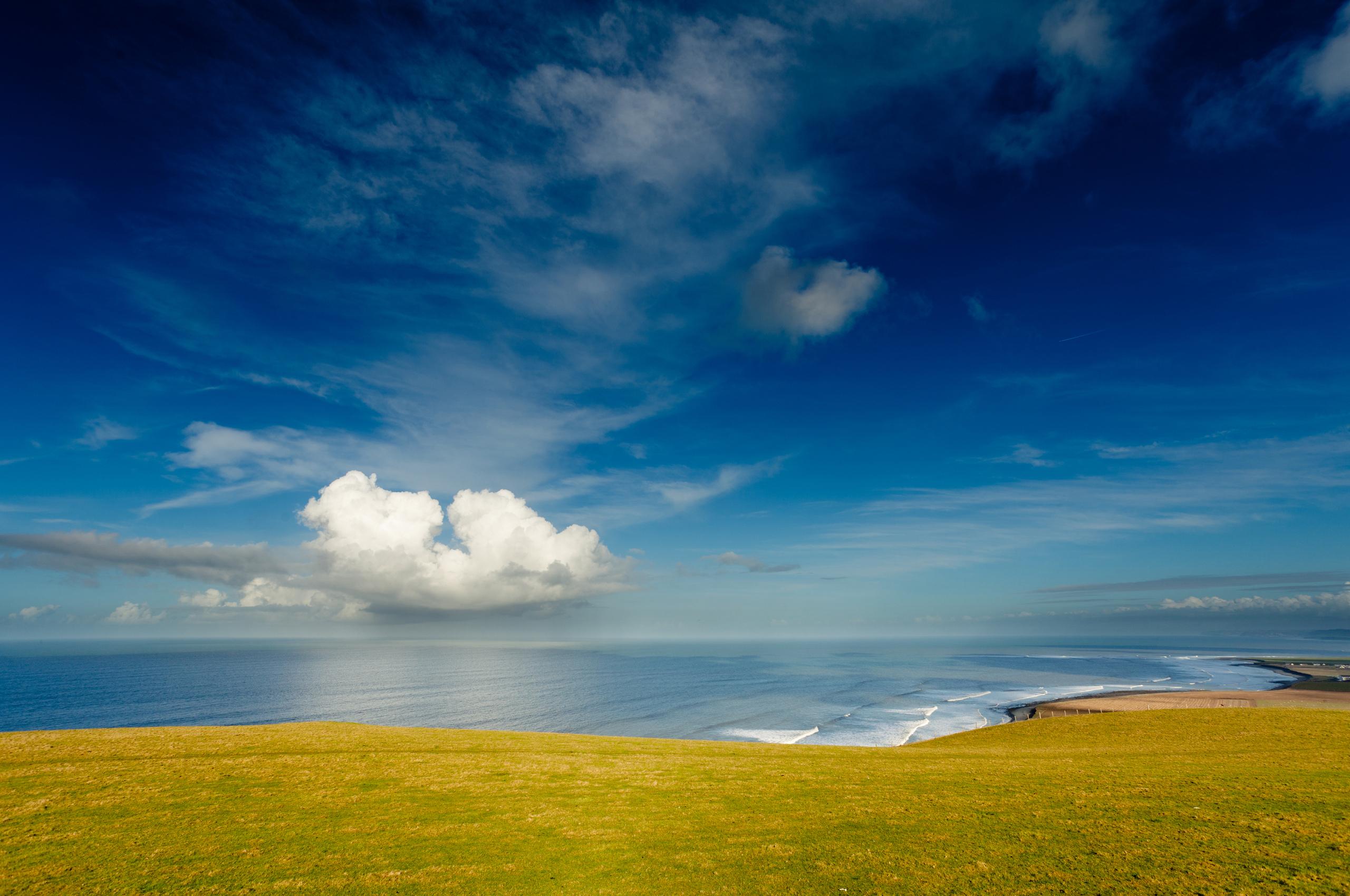 природа море солнце горизонт небо облака  № 717719 бесплатно