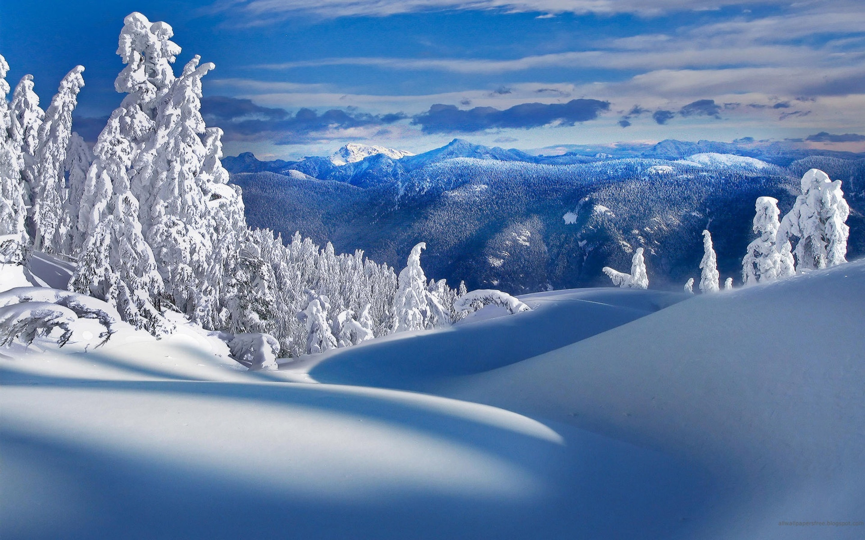 snow whitewater, in