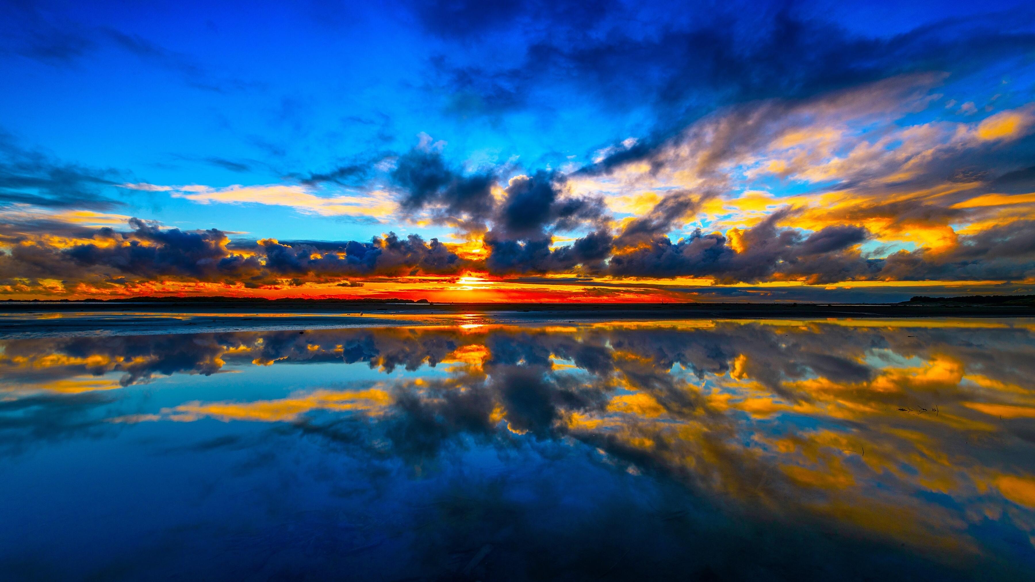 Природа облака небо река  № 2558938 без смс