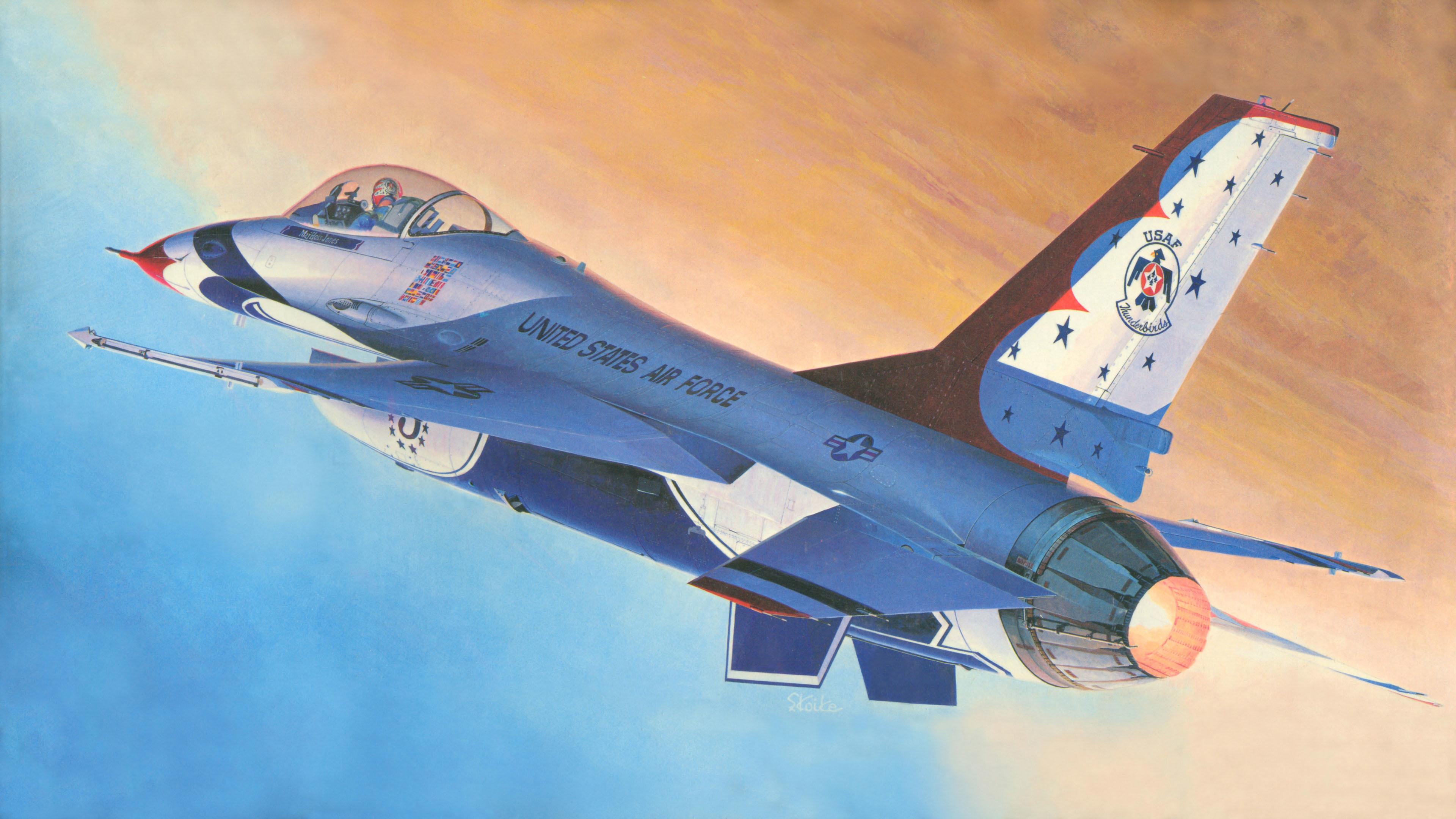 авиация самолет желтый F-16 Fighting Falcon  № 3755549 без смс