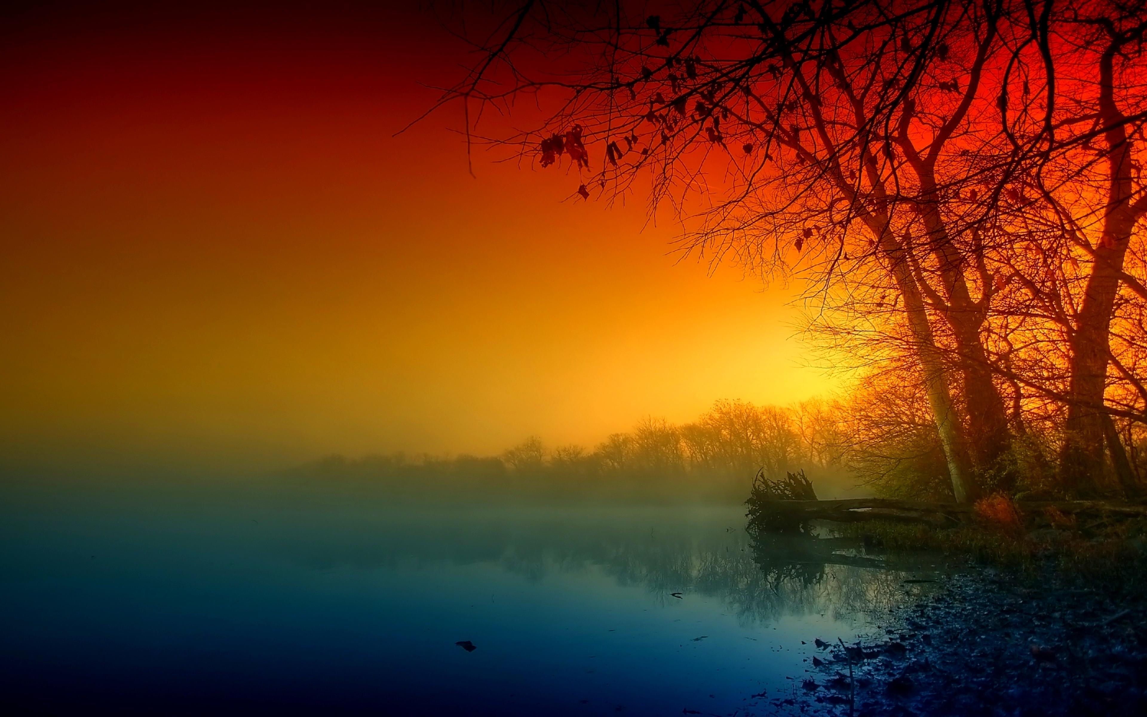 Рассвет утренний туман  № 3795993 бесплатно