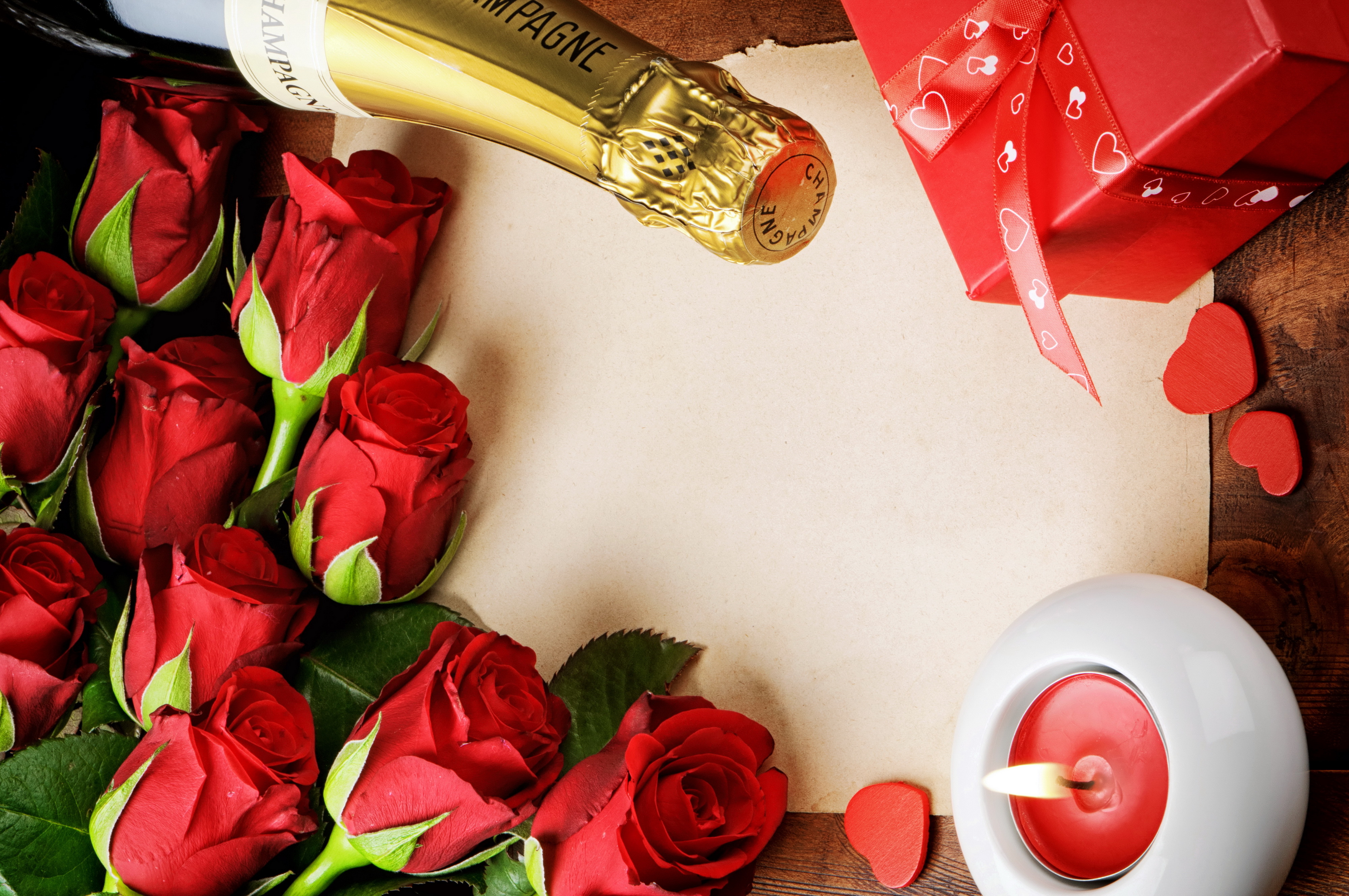 lovely babes are getting covered with roses and champagne  205288