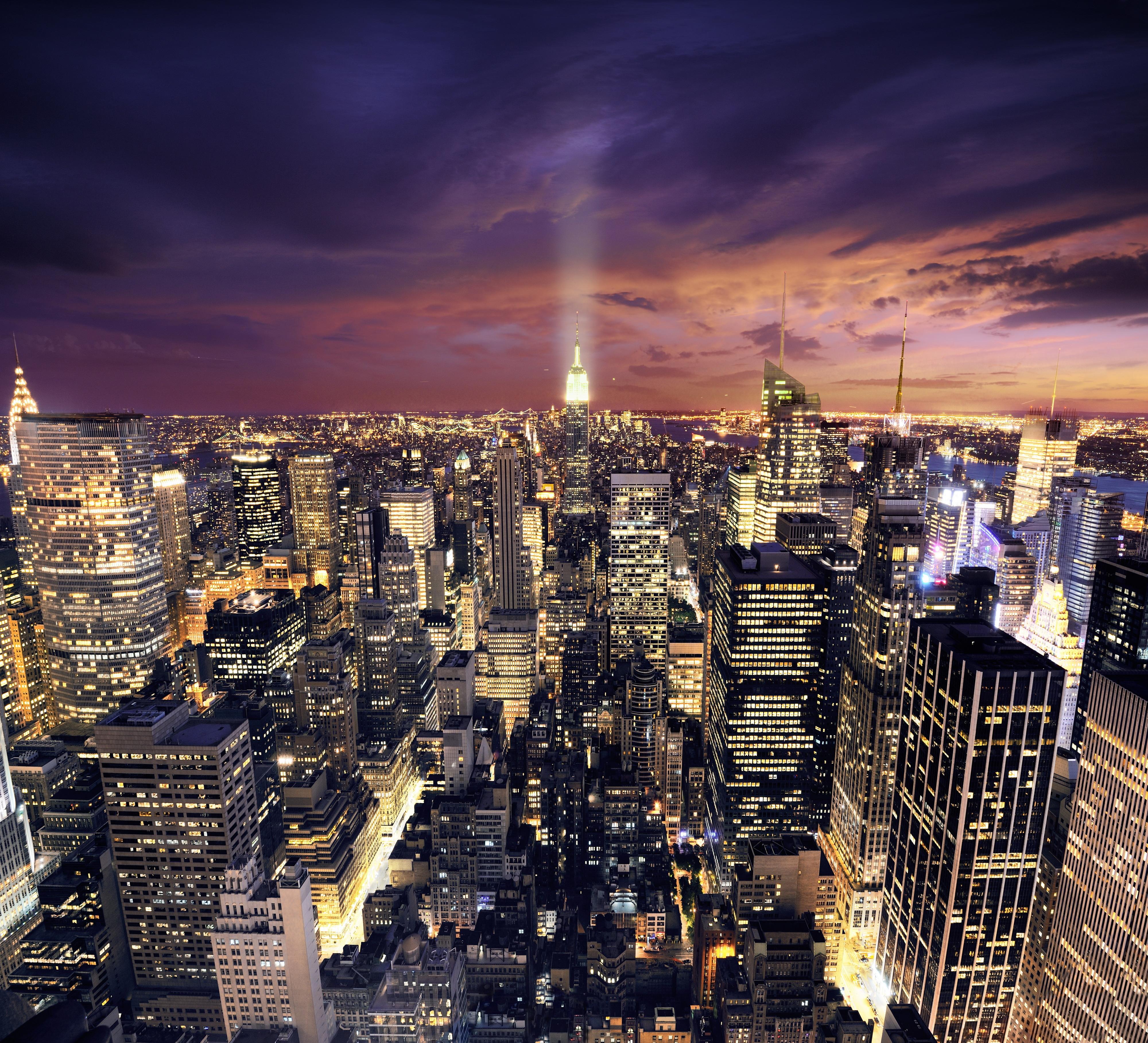 такую красивые картинки ночной город что