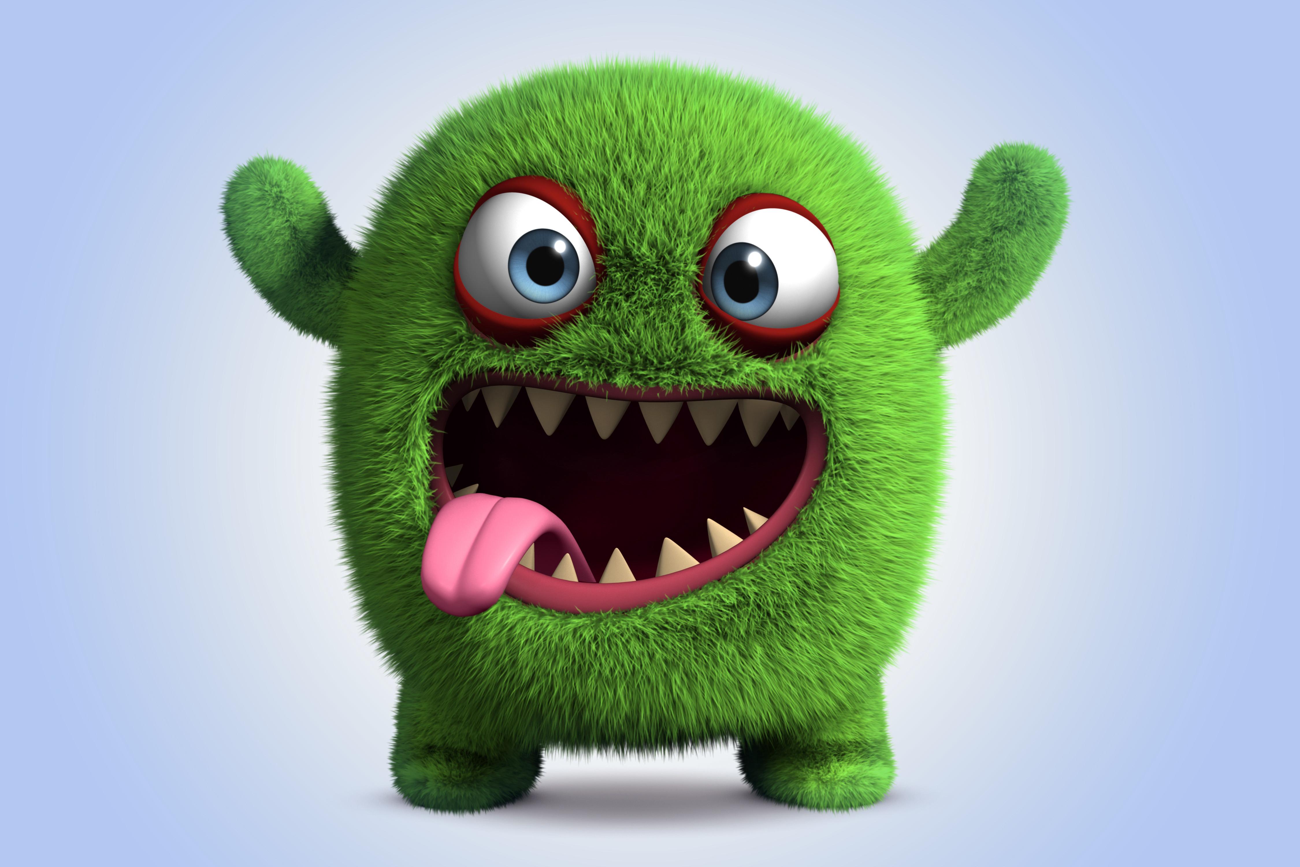 Download Wallpaper Monster Monster Smile Cartoon