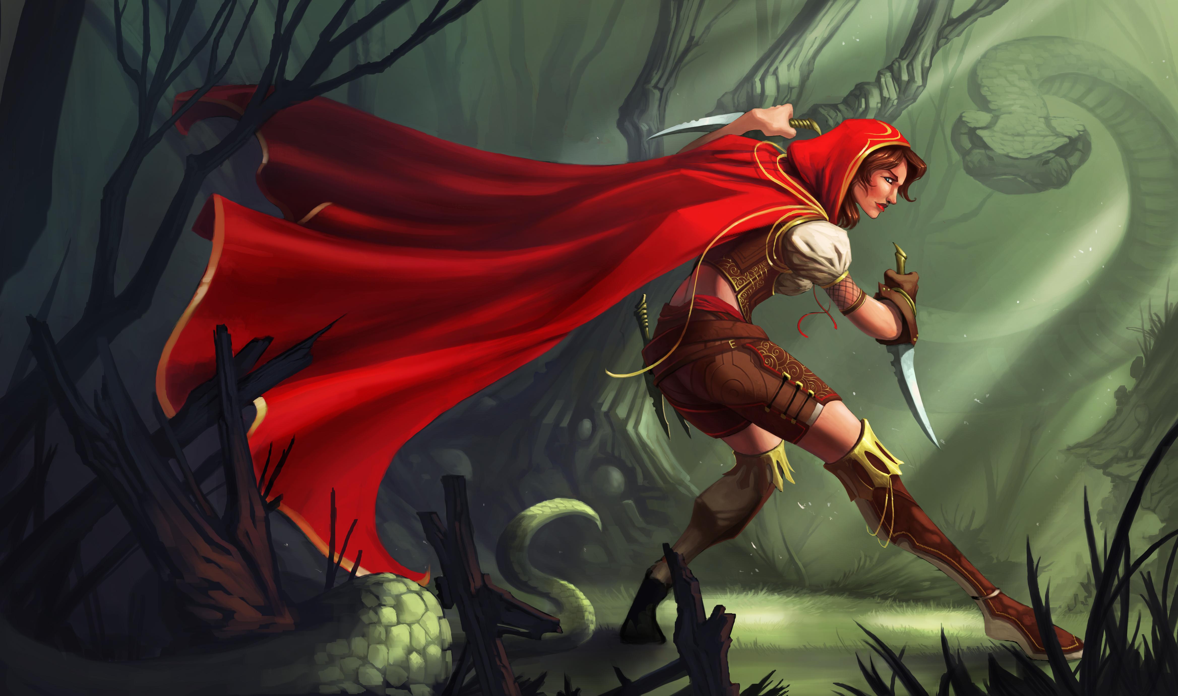 Красная шапочка с топором  № 1821719 загрузить
