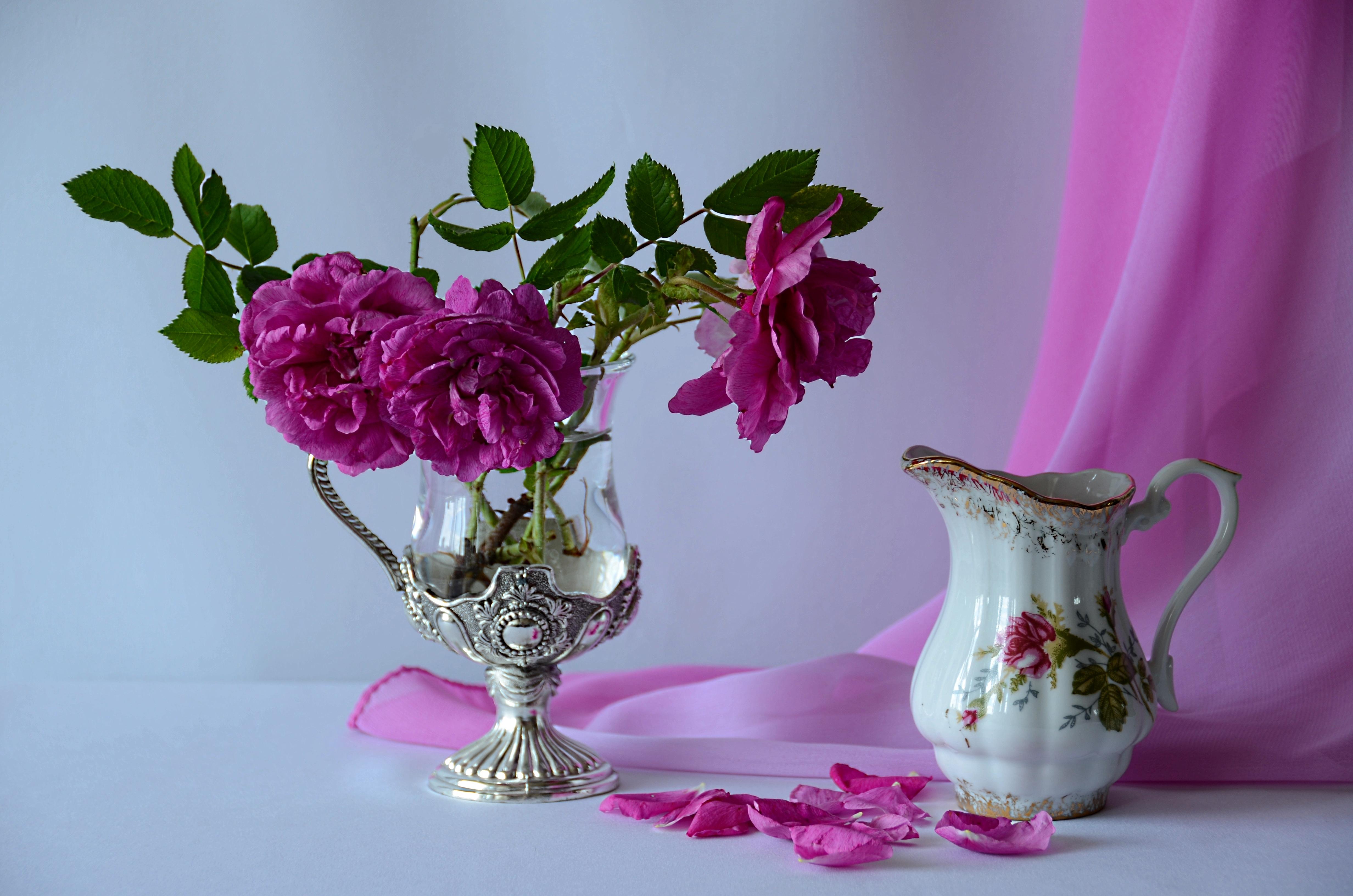 розы цветы ваза  № 1332608 без смс