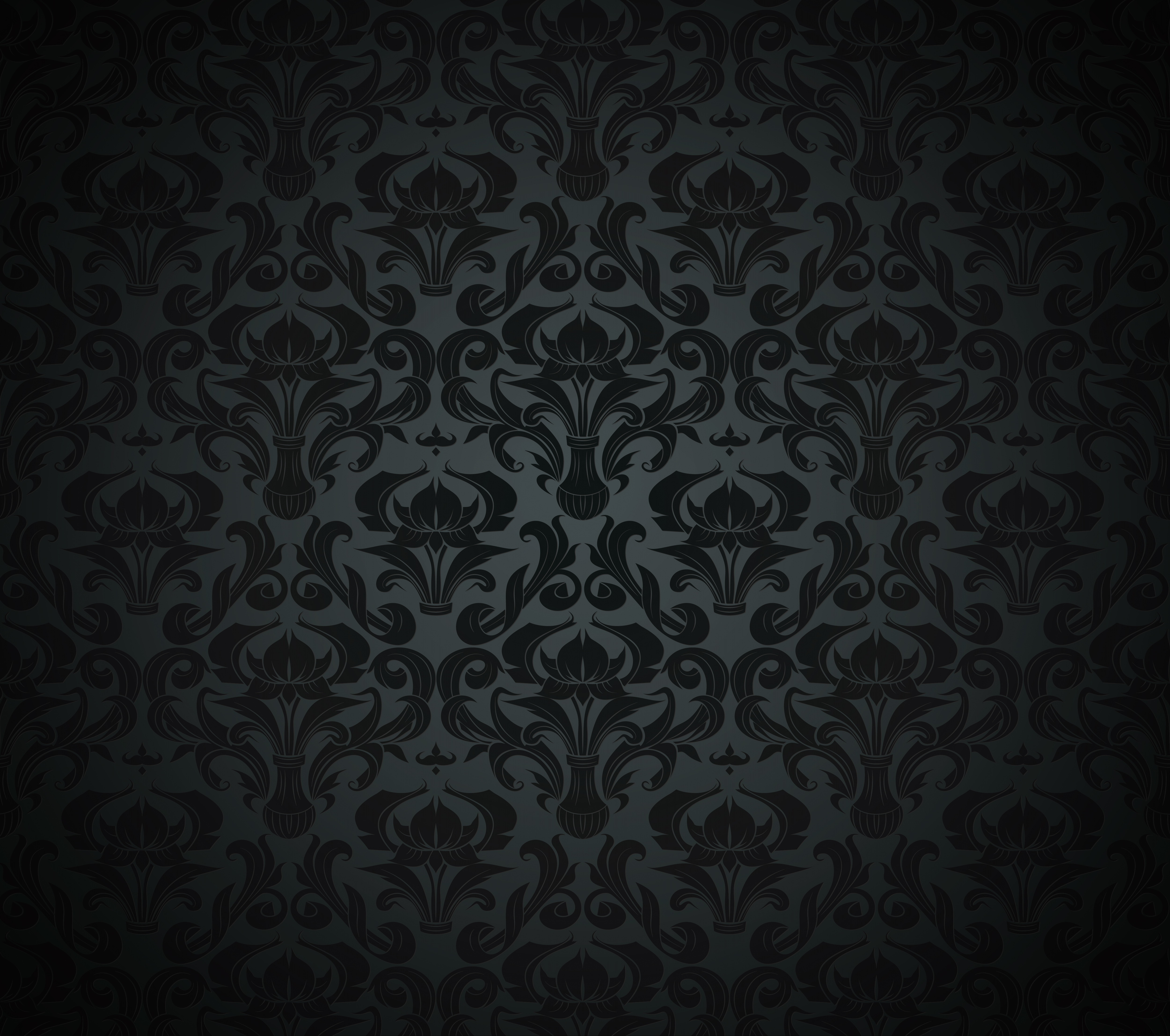 Download Wallpaper Retro, Pattern, Vector, Dark, Black