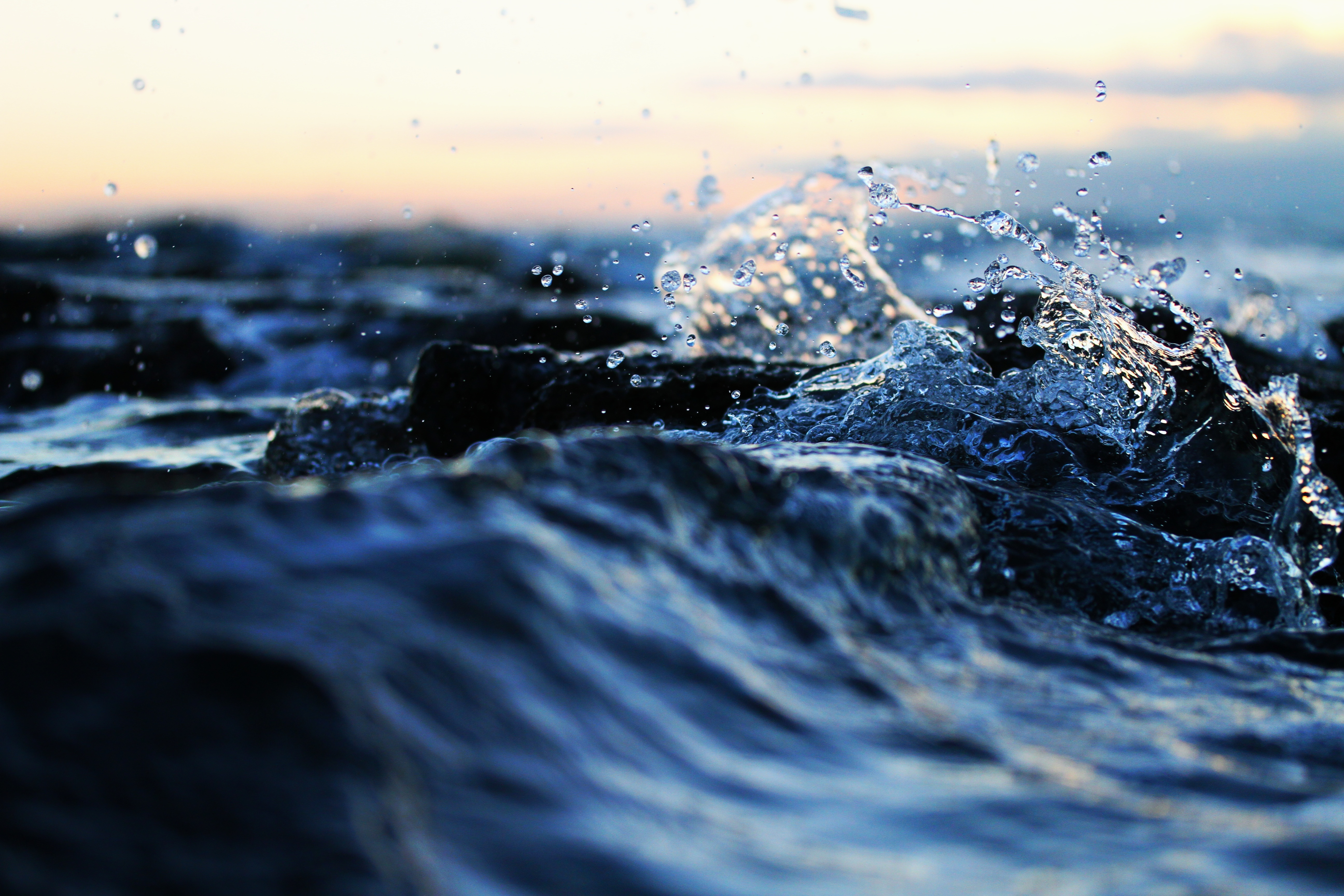 природа вода капля nature water drop  № 2047600  скачать