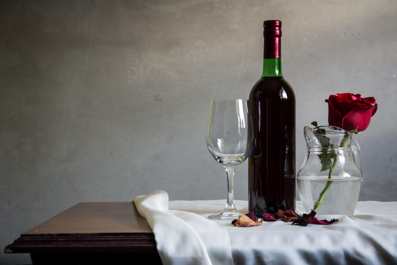 бокал вино корзина сирень  № 3966518 без смс