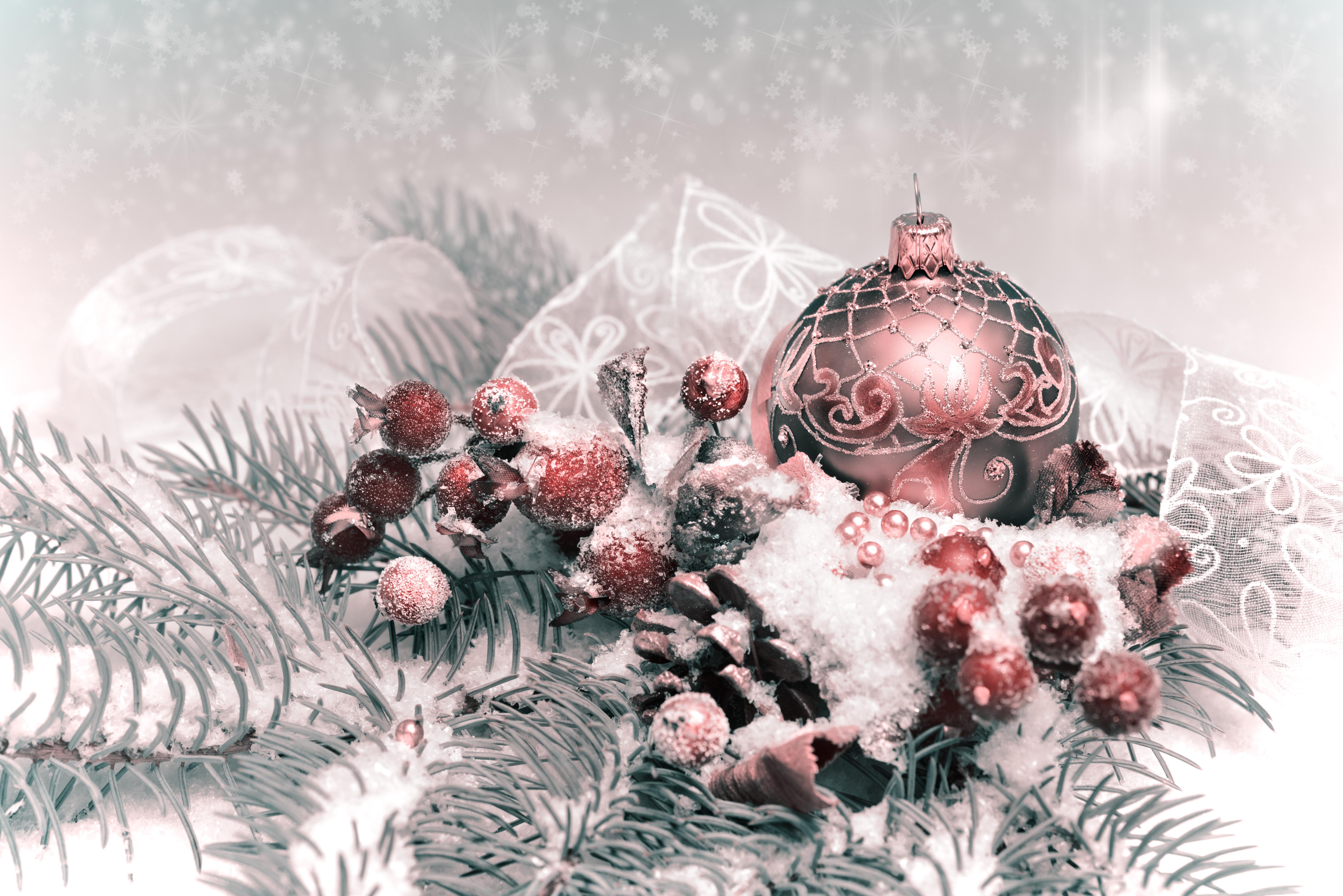 Новогодние Обои На Телефон В Нежных Тонах