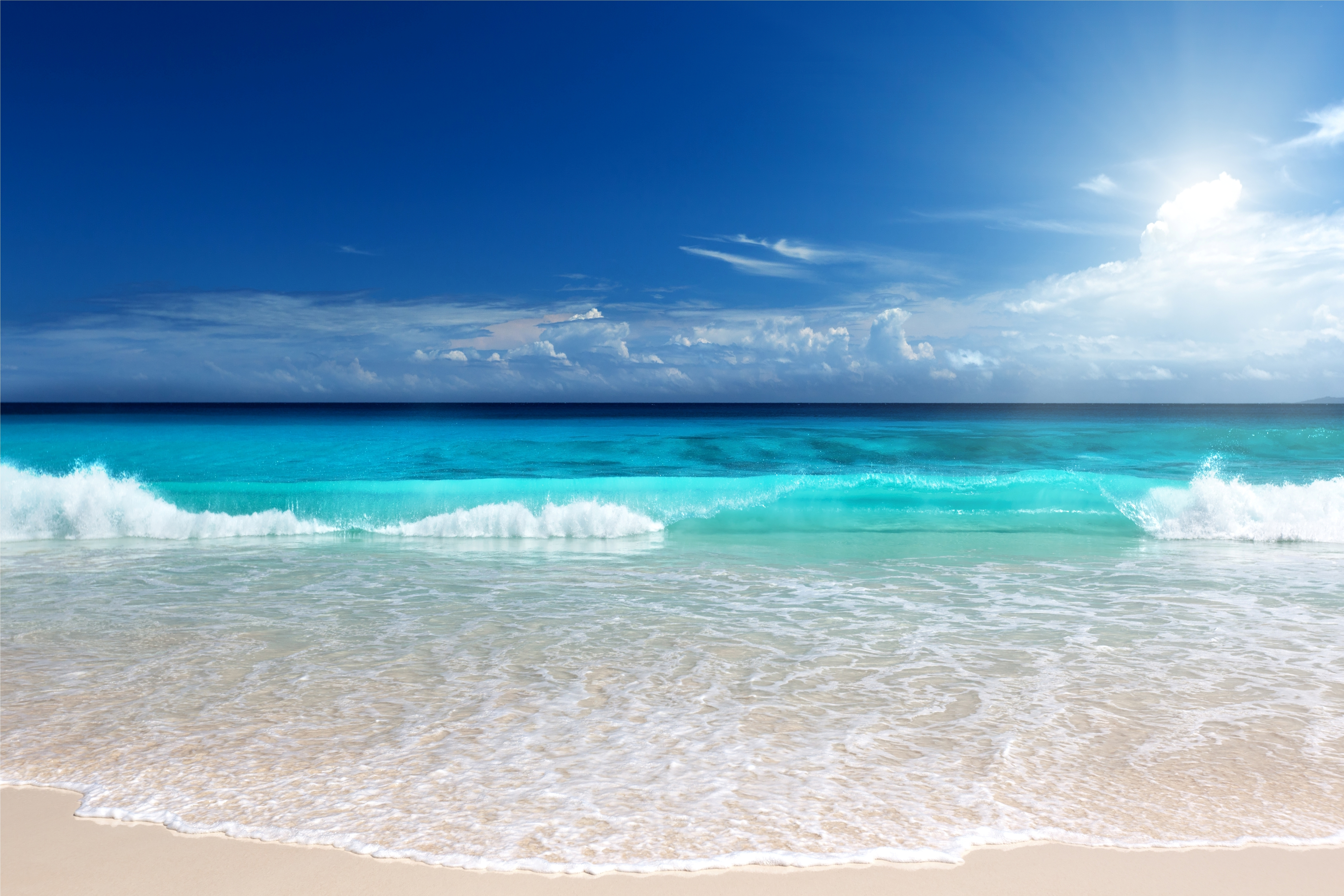 Обои на рабочий стол обои океан пляж