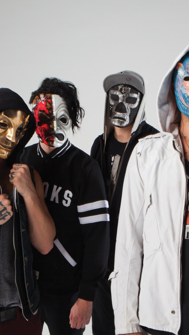 Download Wallpaper J Dog Charlie Scene Funny Man Da Kurlzz Hollywood Undead Mask Danny Johnny 3 Tears Notes From The Underground Section Music In Resolution 640x1136