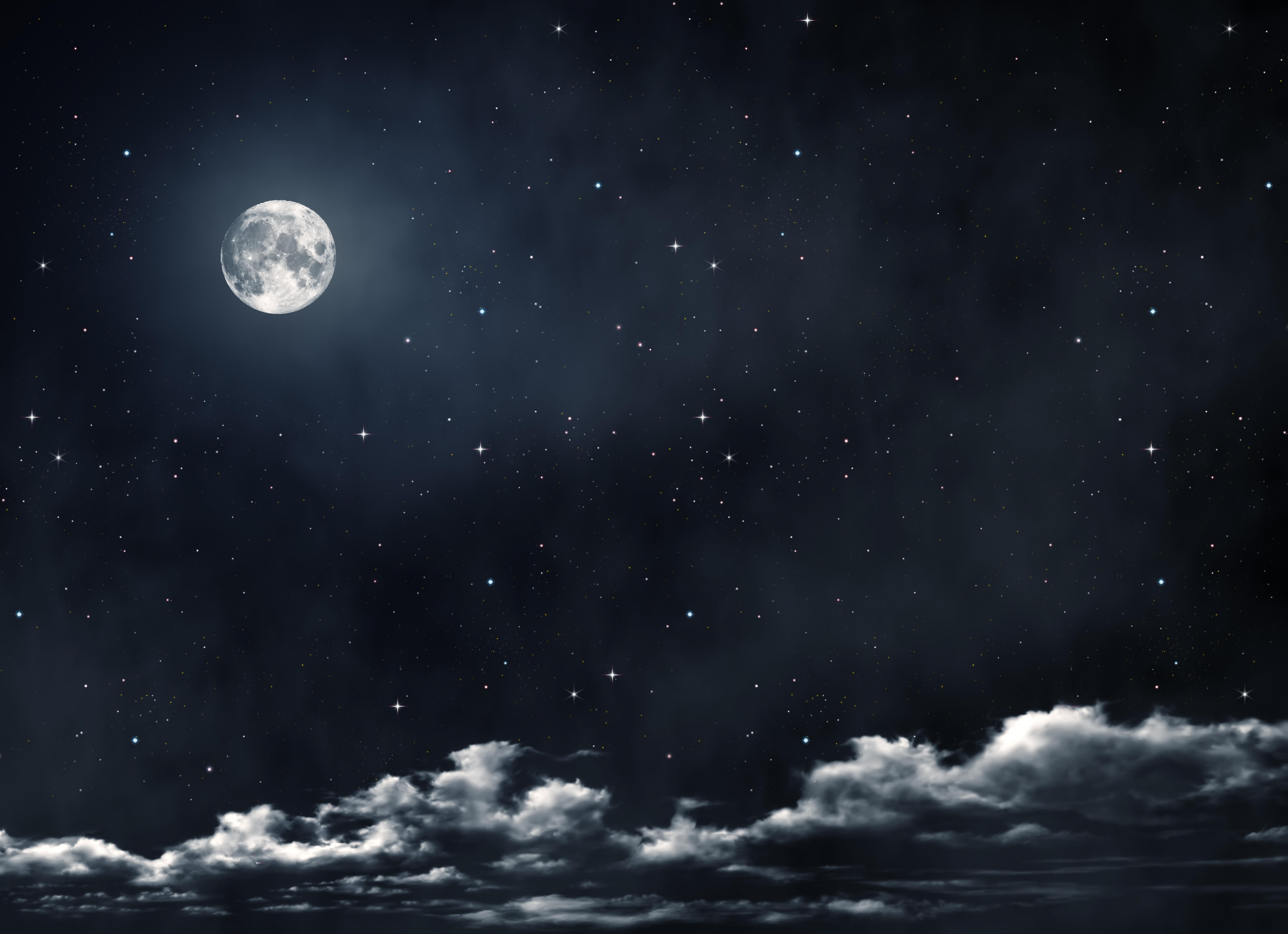 moon and stars - HD7000×5078