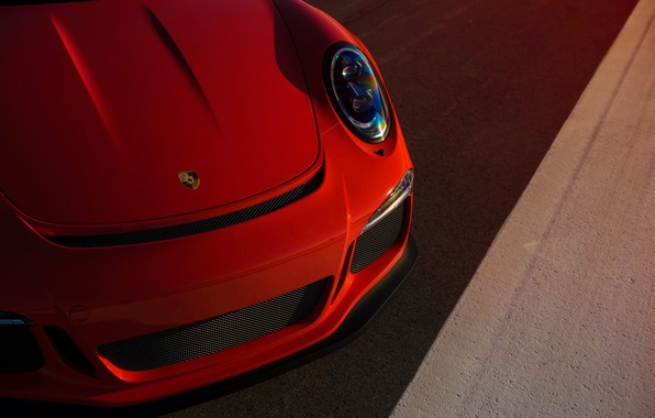 Picture 911, Porsche, Orange, Front, Sun, Color, GT3RS, Supercar, Ligth