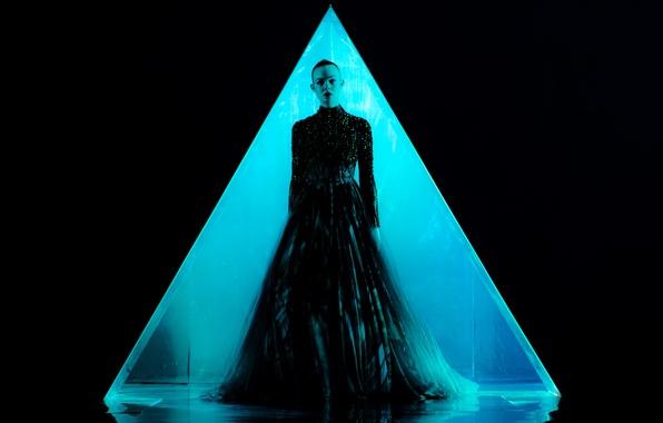 Picture dark, wallpaper, USA, dress, woman, Los Angeles, model, neon, blonde, evil, Jesse, black dress, official …