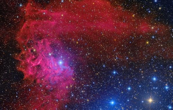 Photo Wallpaper Nebula Reflection IC 405 Flaming Star