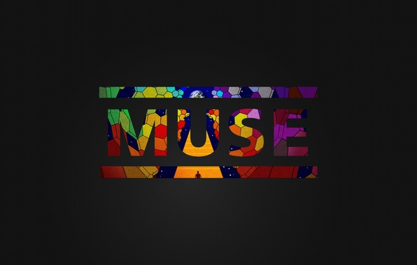 Picture music, the dark background, the inscription, Wallpaper, group, muse