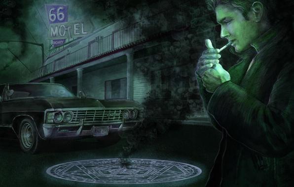 Picture Dean, Supernatural, Supernatural, Dean, 1967 Chevrolet Impala