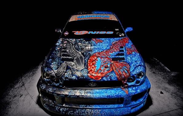 Picture fish, Subaru, WRX, airbrushing, STI, Subaru